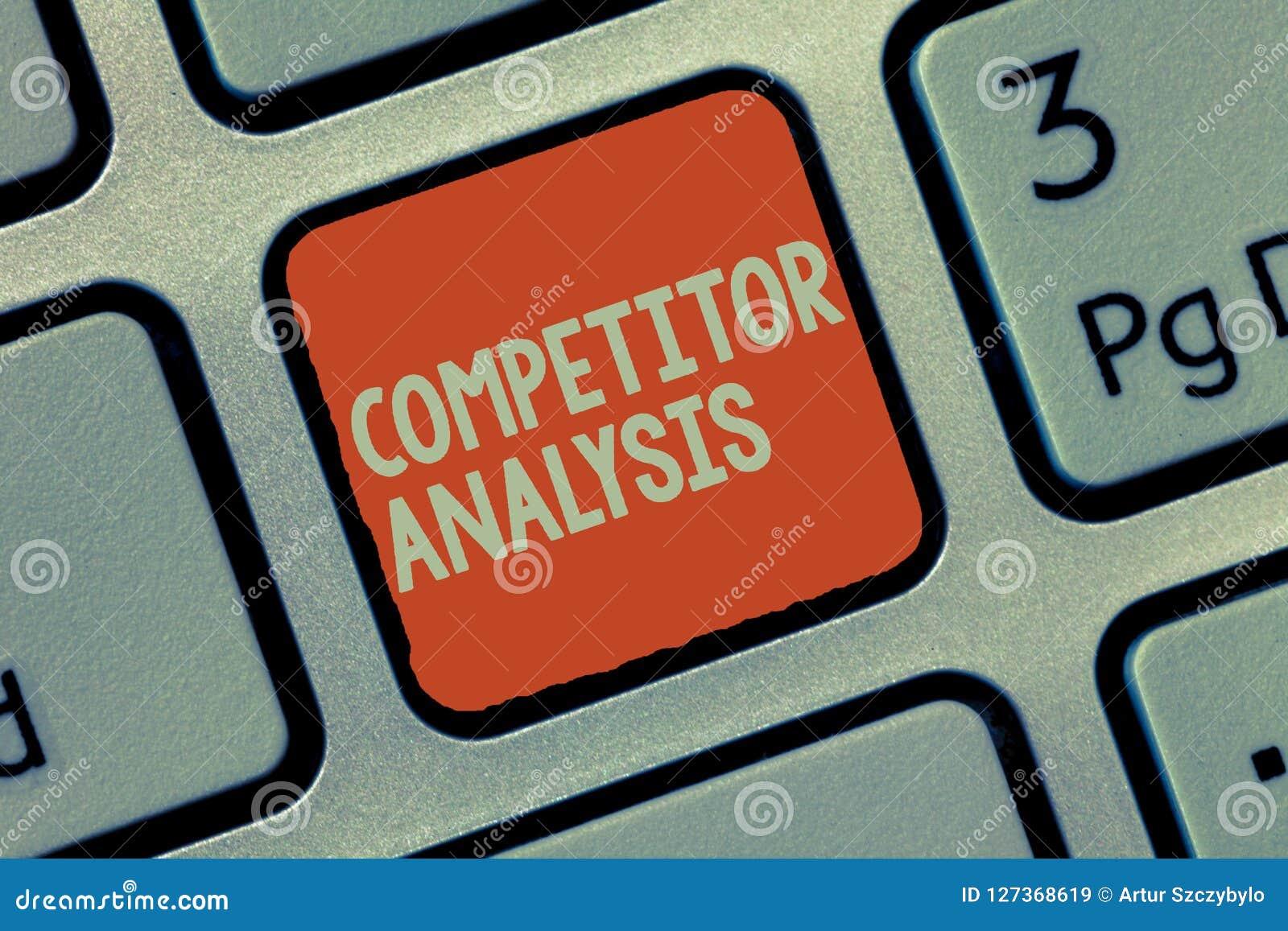 Wortschreibenstext Konkurrenten-Analyse Geschäftskonzept für Determine die Stärke-Schwäche des freien Marktes