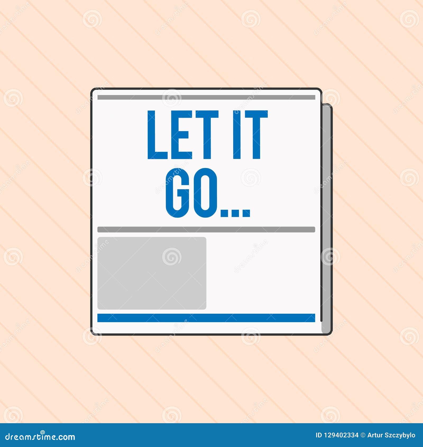 Wortschreibenstext ließ es gehen Geschäftskonzept für Choose, Reaktionen über eine Aktion nicht zu machen oder zu erwähnen