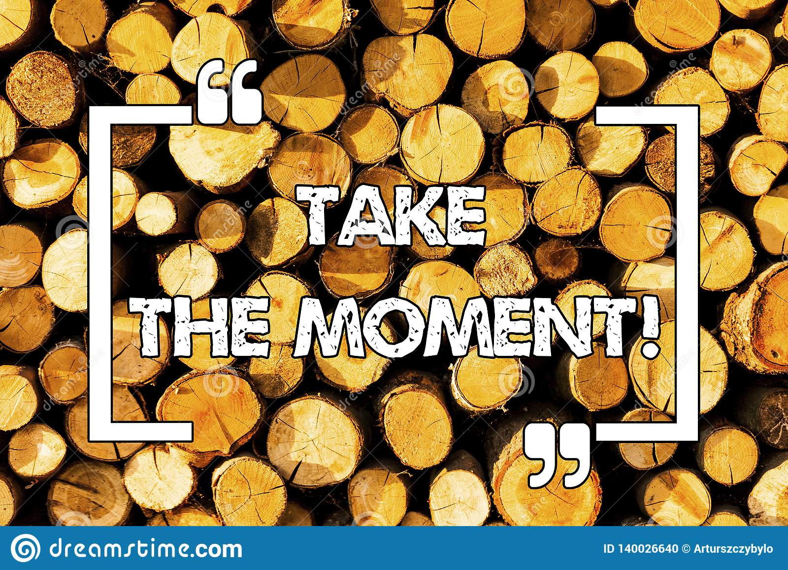 Wortschreibenstext nehmen den Moment Geschäftskonzept für Seize der Tag und die Gelegenheit glückliches optimistisches Positiv se