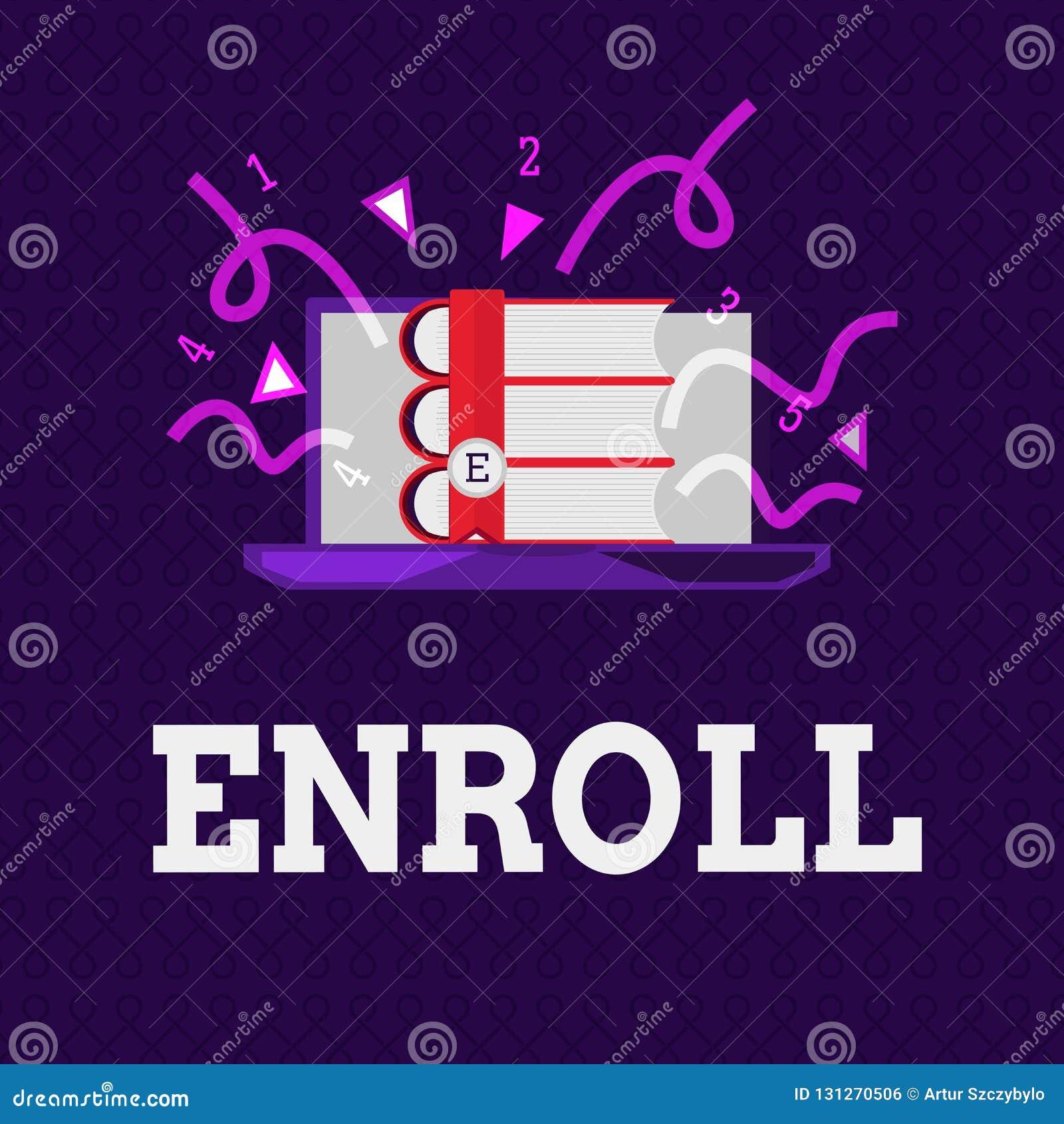 Wortschreibenstext schreiben ein Geschäftskonzept für offiziell registrieren als Mitglied der Institution oder des Studenten auf