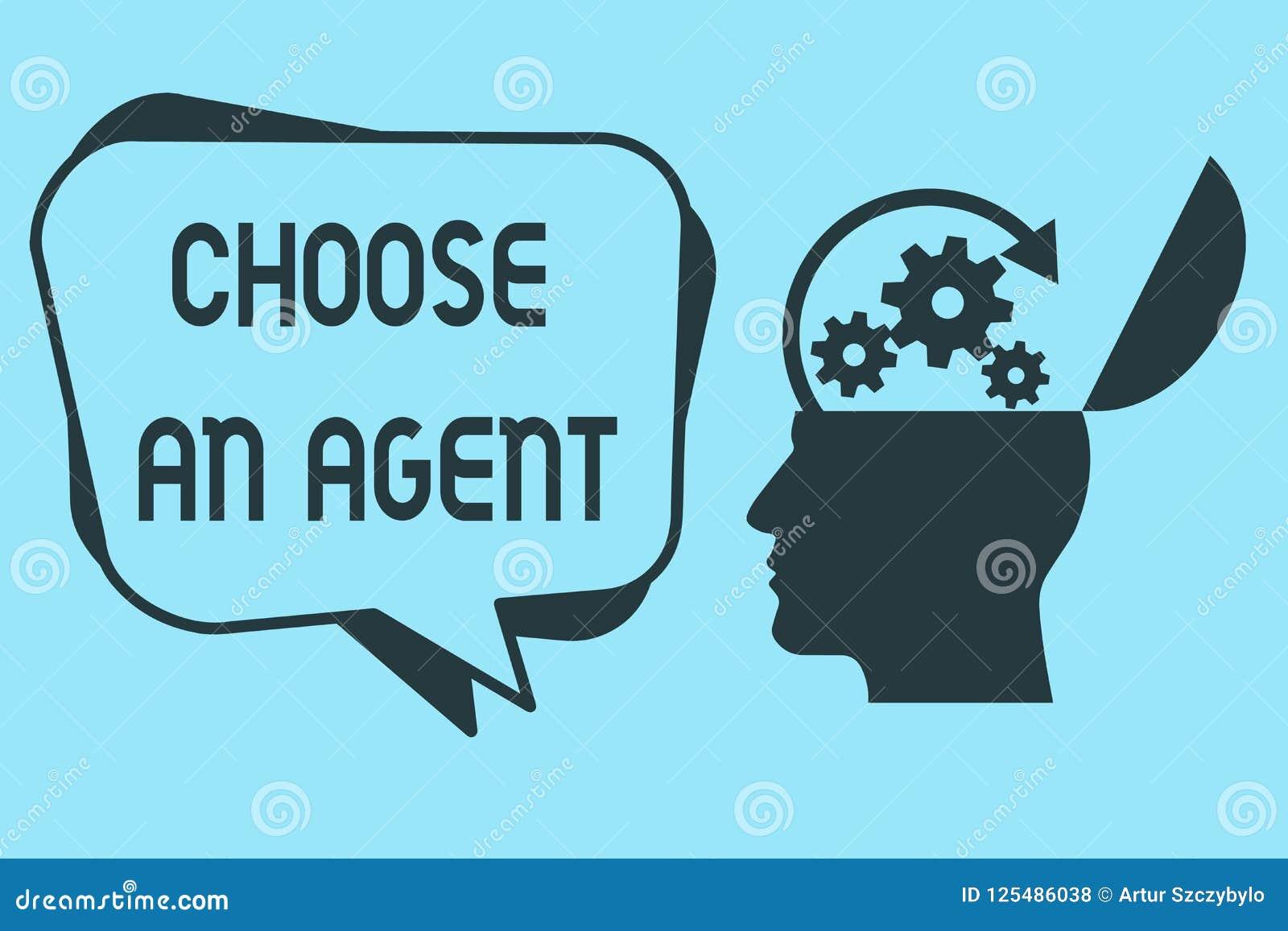 Wortschreibenstext wählen ein Mittel Geschäftskonzept für Choose jemand, das Entscheidungen im Namen Sie wählt