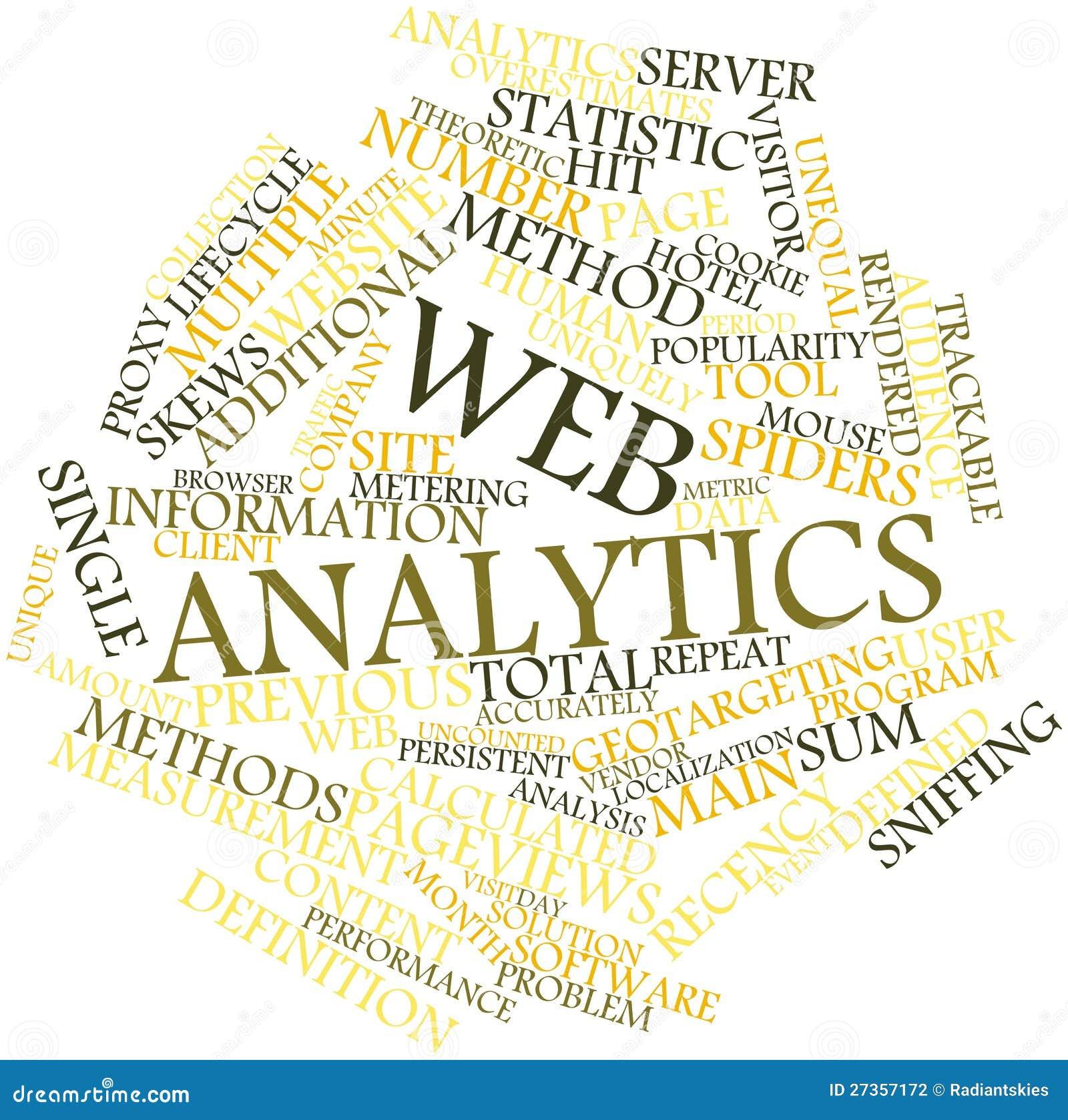 Wortwolke für Web analytics
