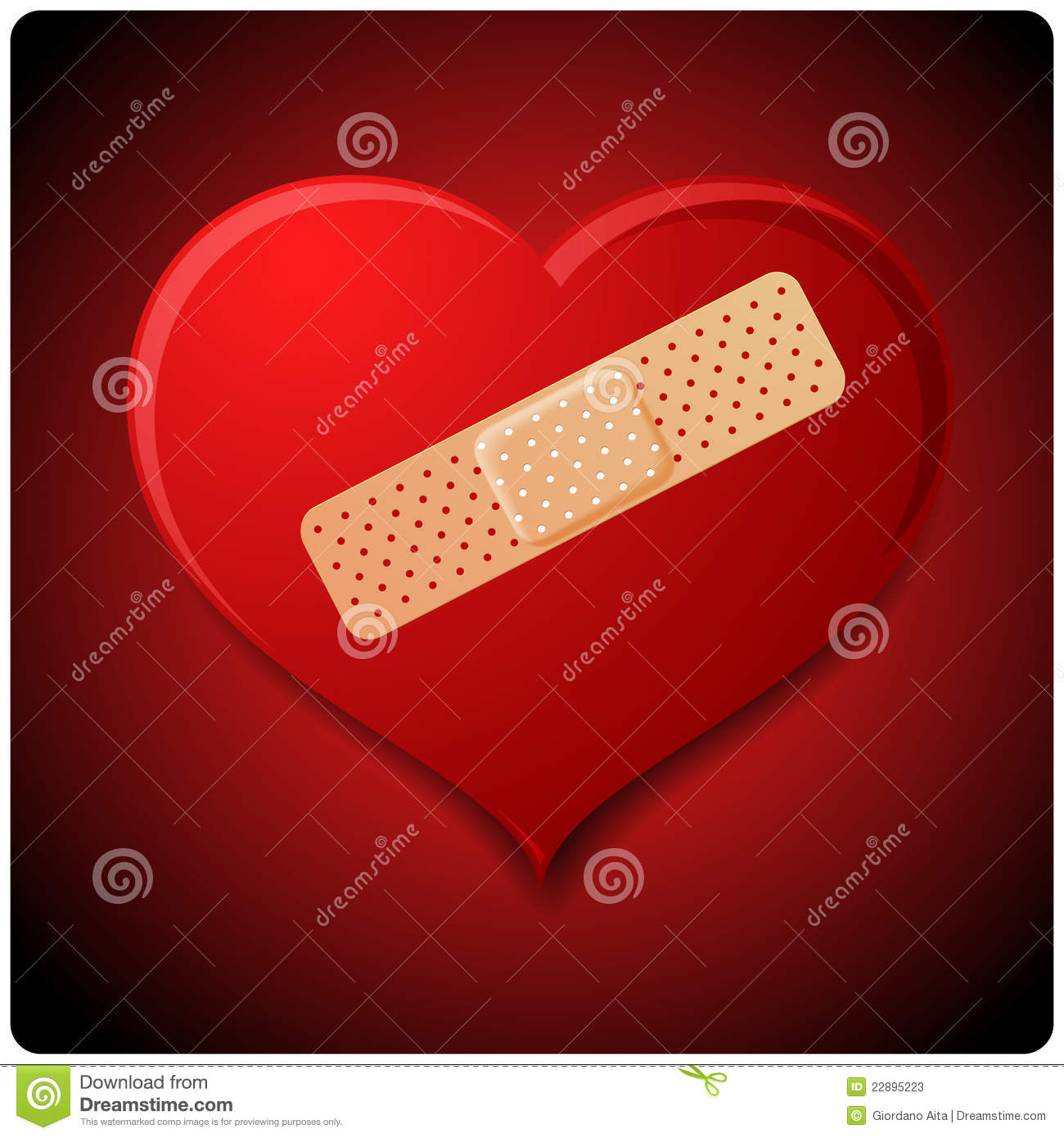 Wounded Heart Stock Illustration Illustration Of Medication 22895223