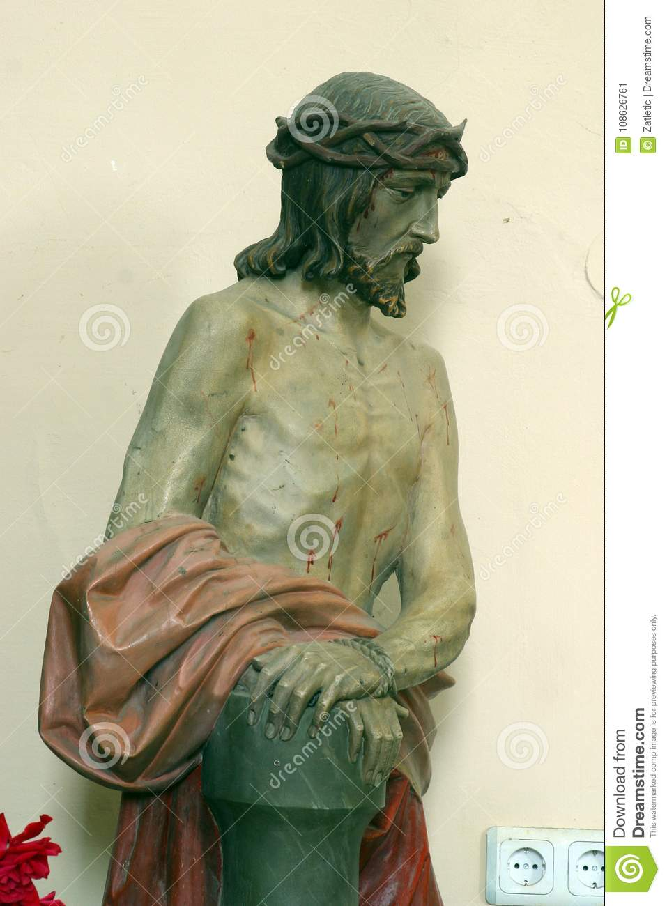Wounded Jesus stock image. Image of catholic, color - 108626761