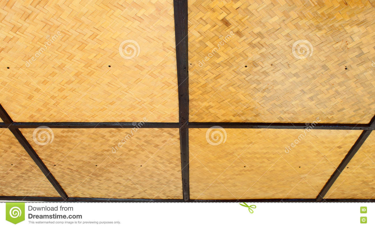 Woven bamboo ceiling stock image image of hardwood exterior royalty free stock photo dailygadgetfo Images