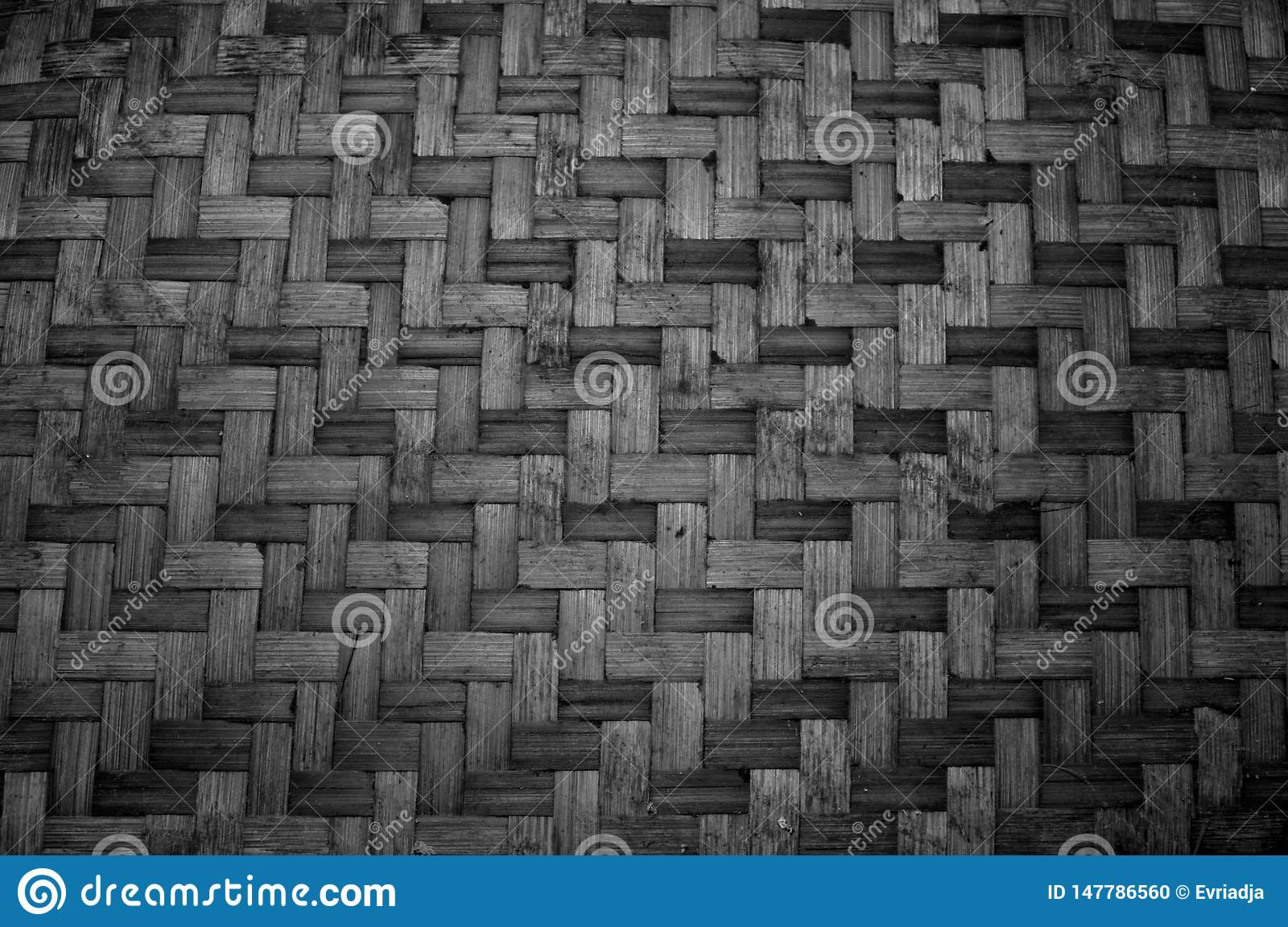 Woven bamboo texture. Pattern and texture background