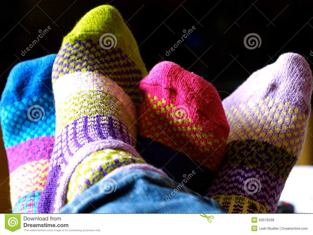 Woven Colorful Sock Friends