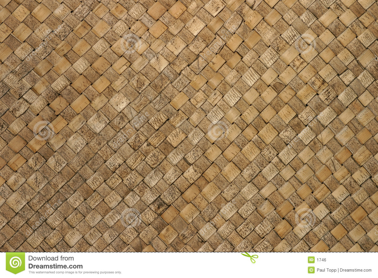 Woven Thatch Background Pattern