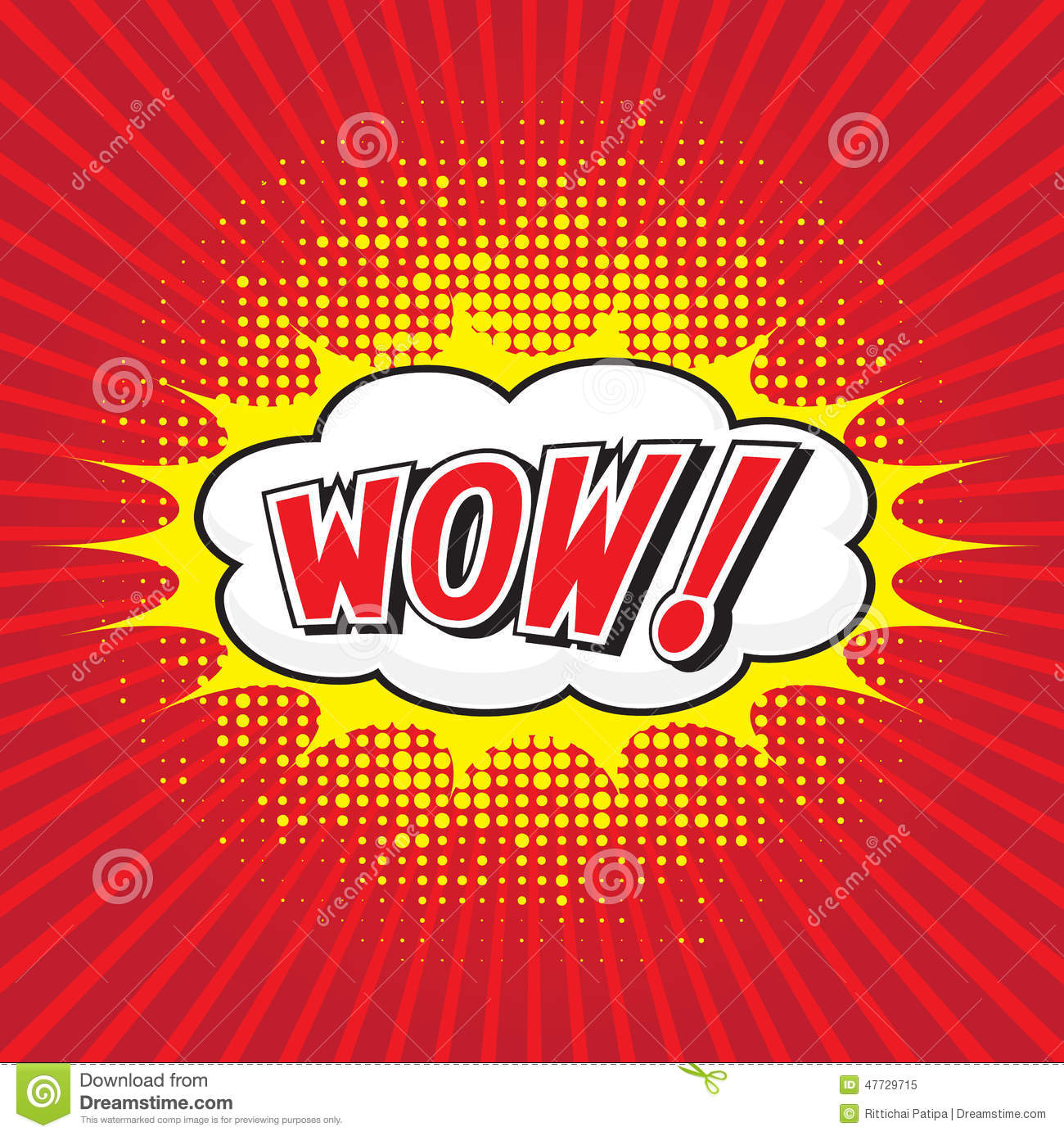 WOW! Comic Word Stock Vector - Image: 47729715: www.dreamstime.com/stock-illustration-wow-comic-word-speech-bubble...