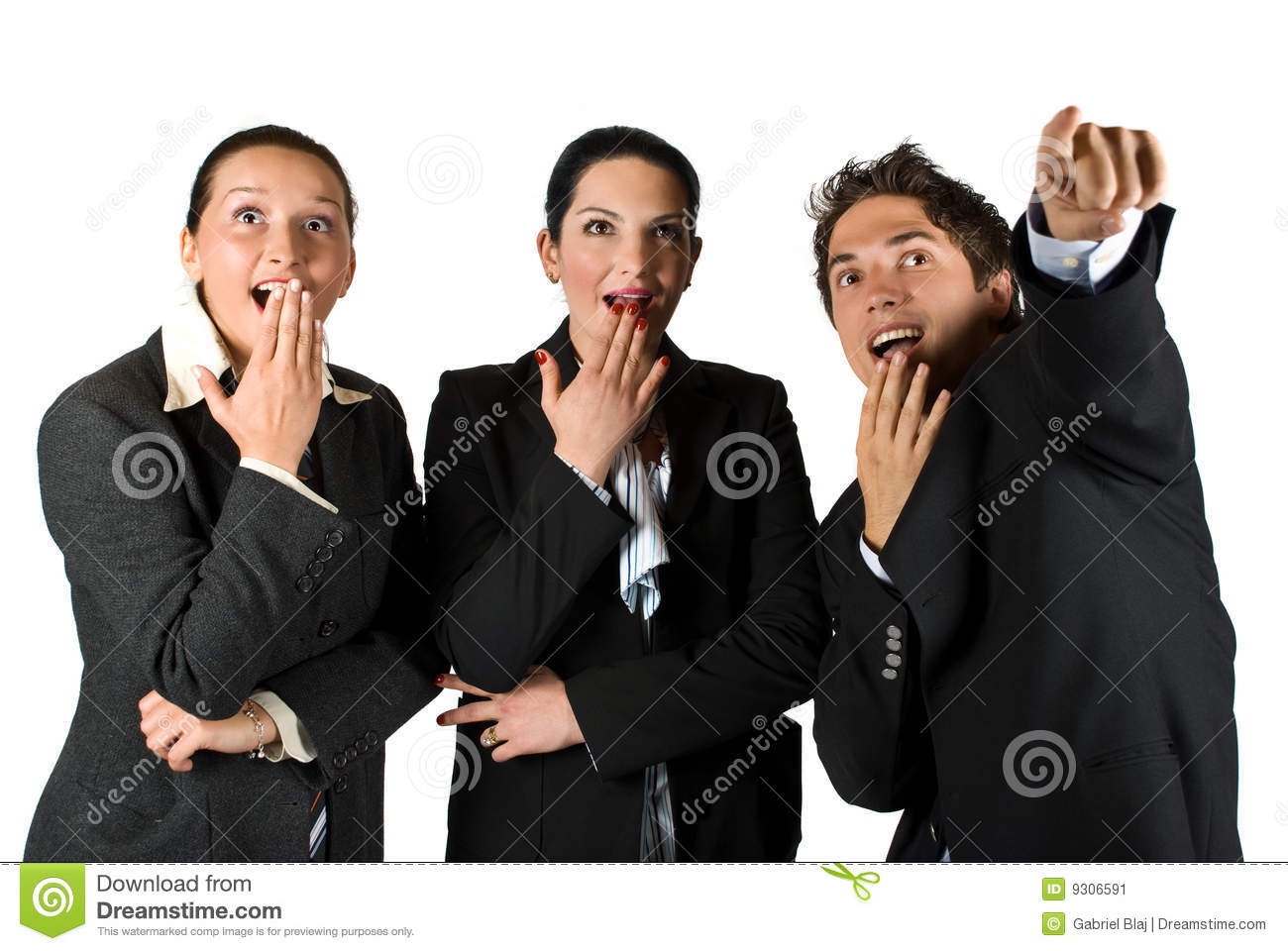 wowlook there stock image image of businesspeople