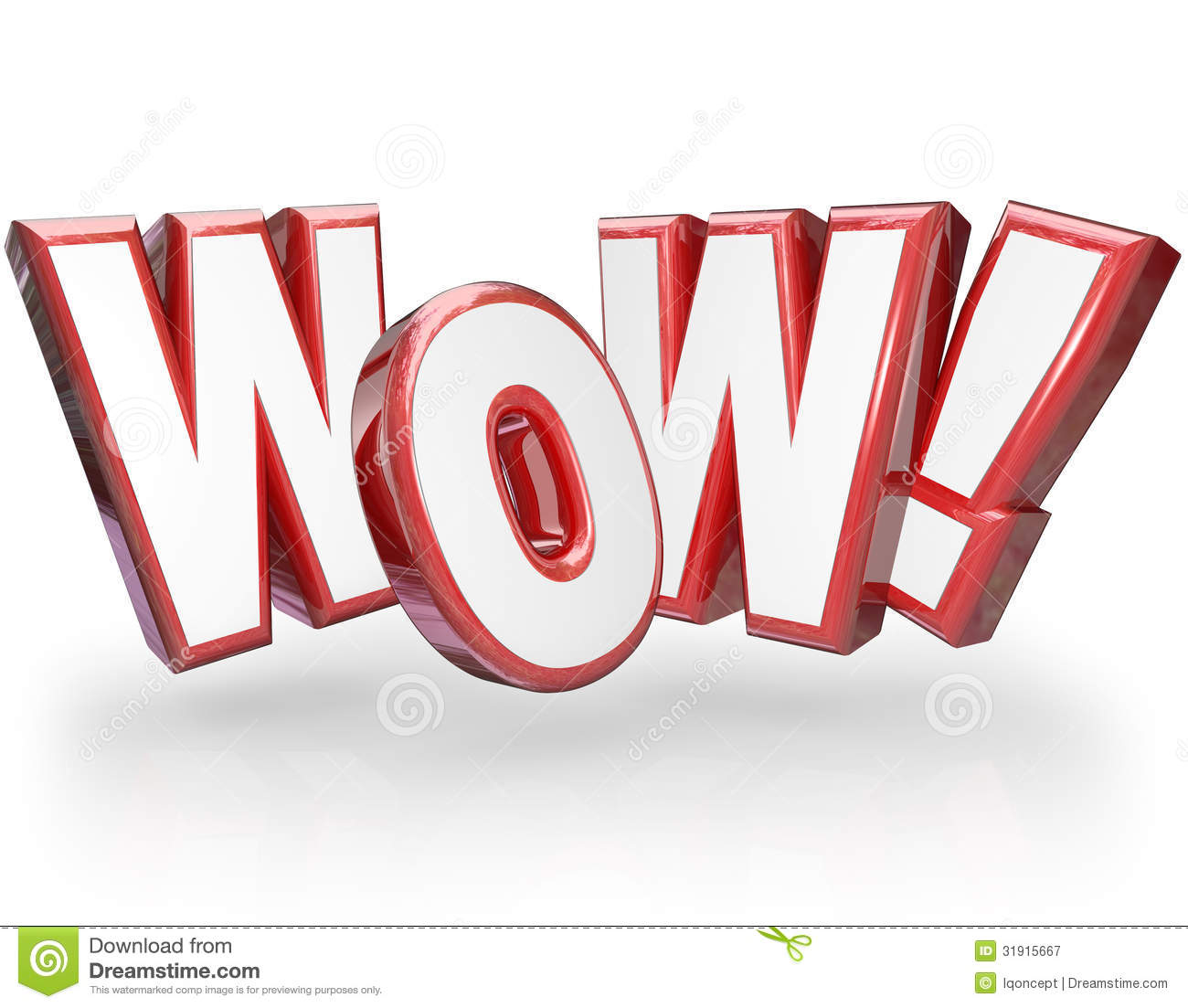 The Word Amazing: Wow Surprised Word Astonished Surprising Royalty Free