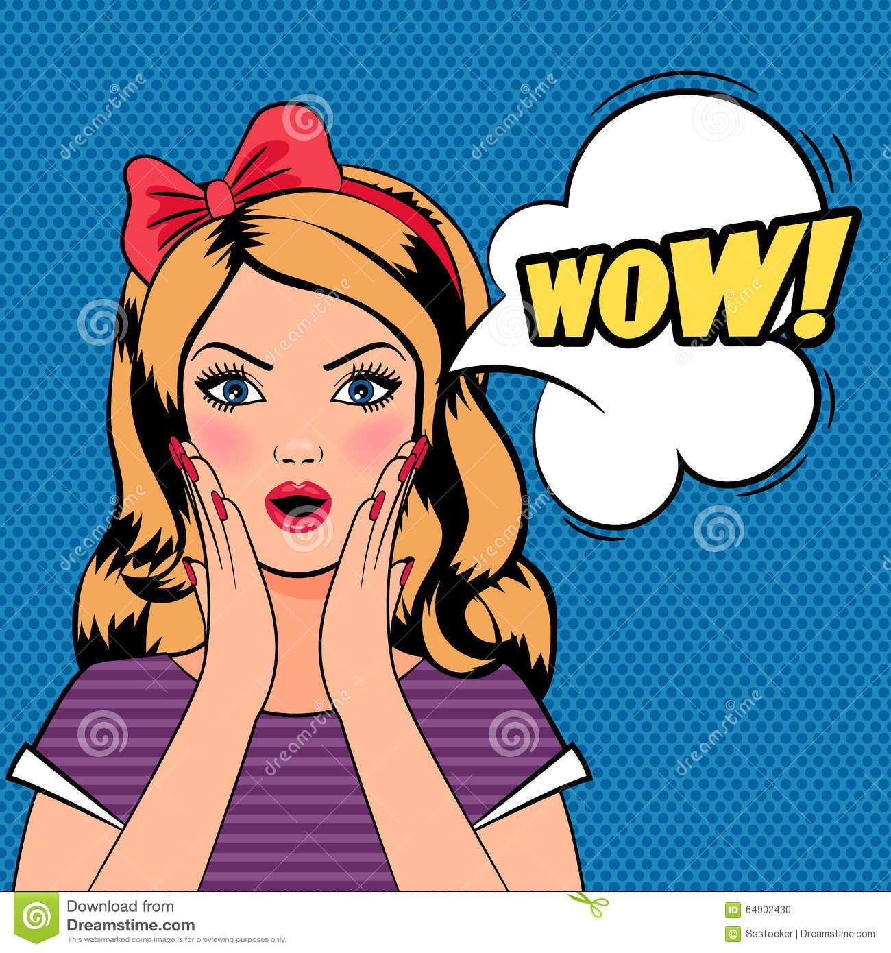 Wow Woman, Pop Art Woman With WOW Sign Stock Vector - Image: 64902430