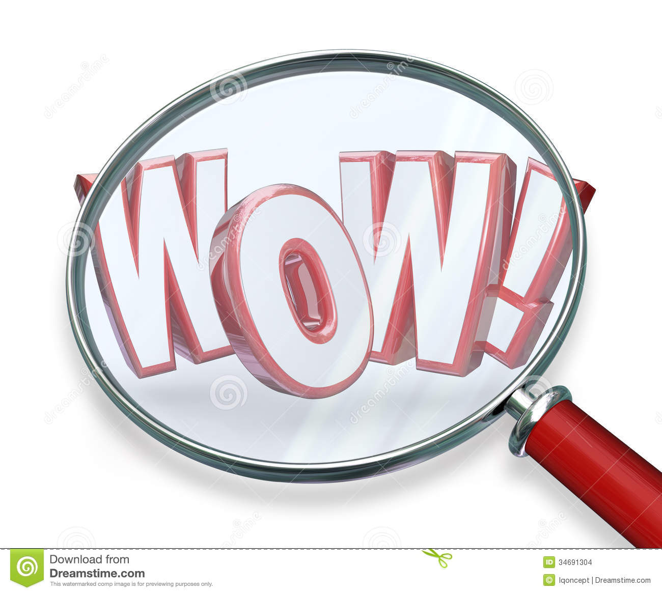 The Word Amazing: Wow Word Magnifying Glass Search Discovery Amazing Find