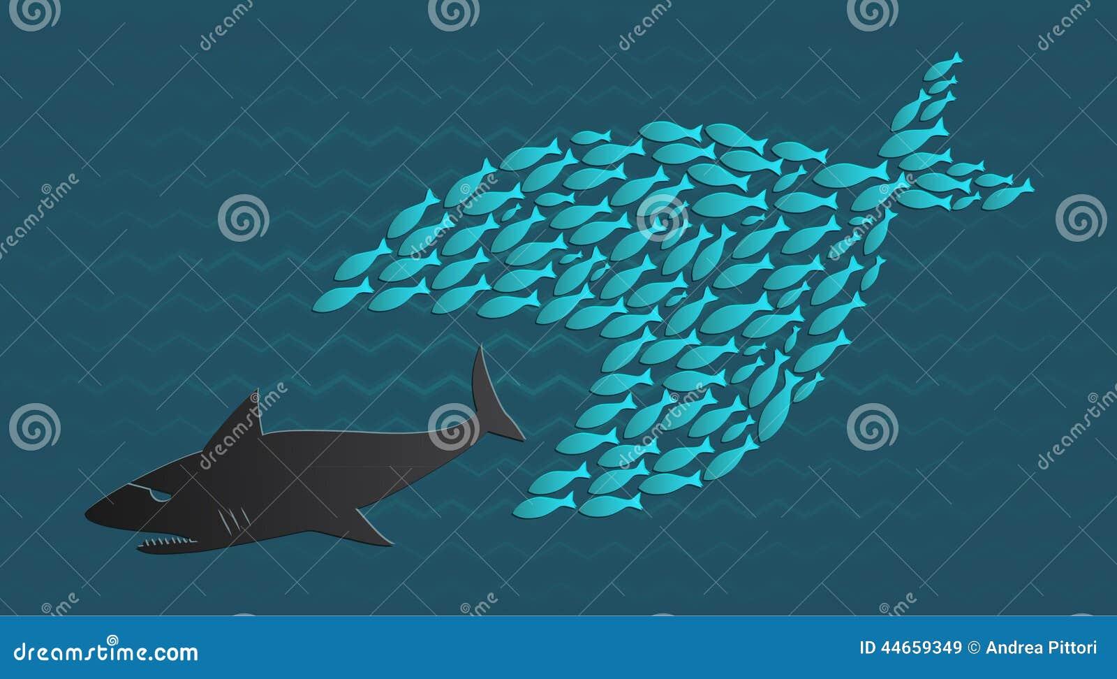 Wpólnie stoimy: Duża Mała ryba je Dużej ryba