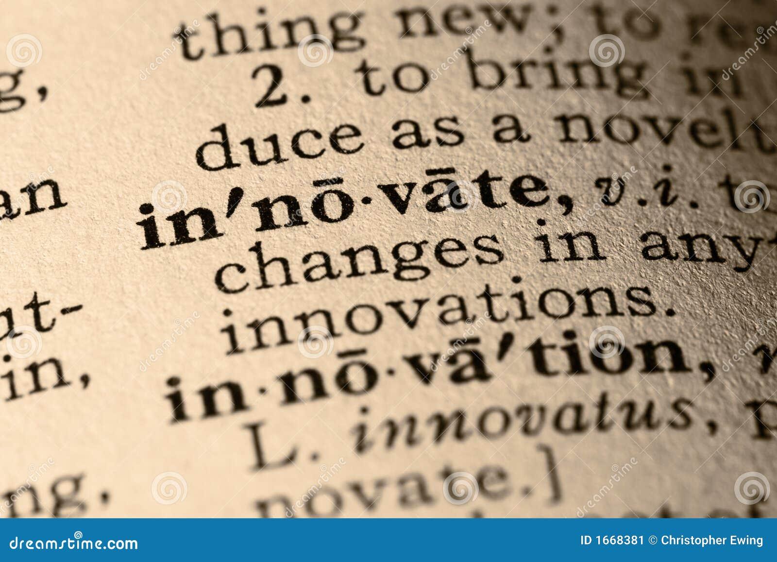 Wprowadza innowacje słowo