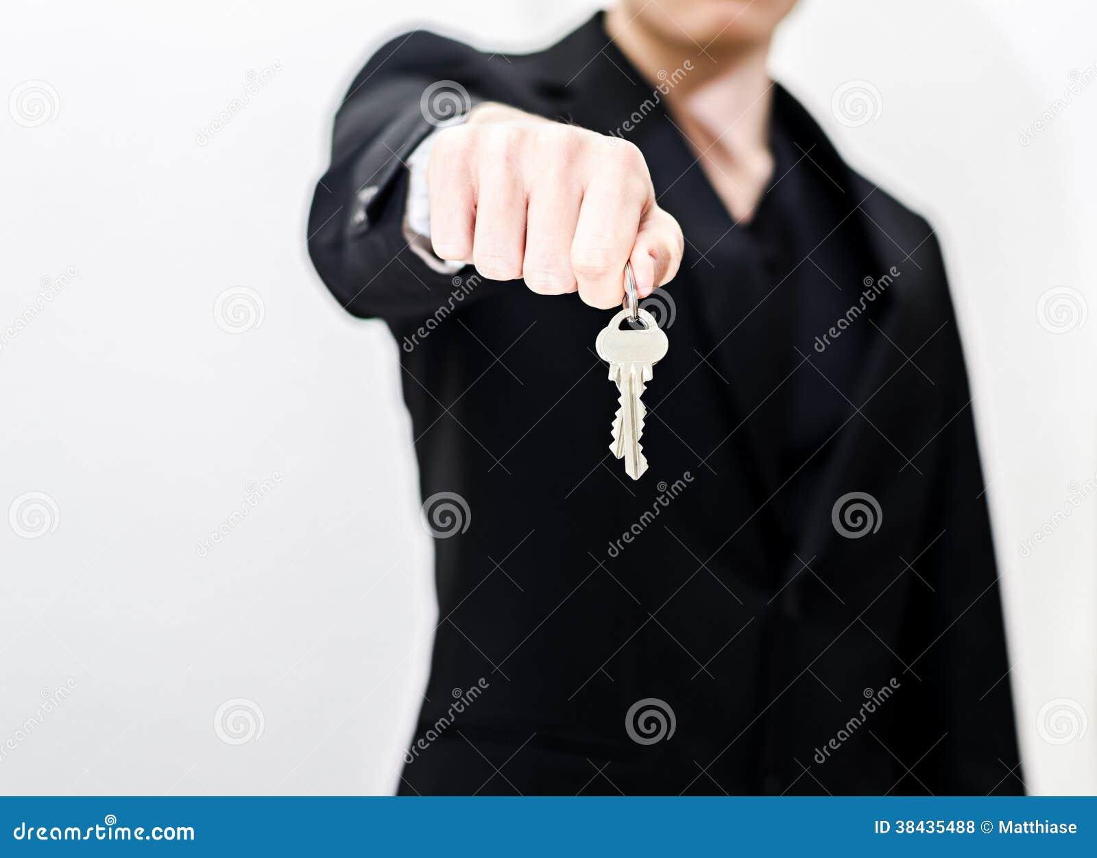 Wręczać nad kluczami