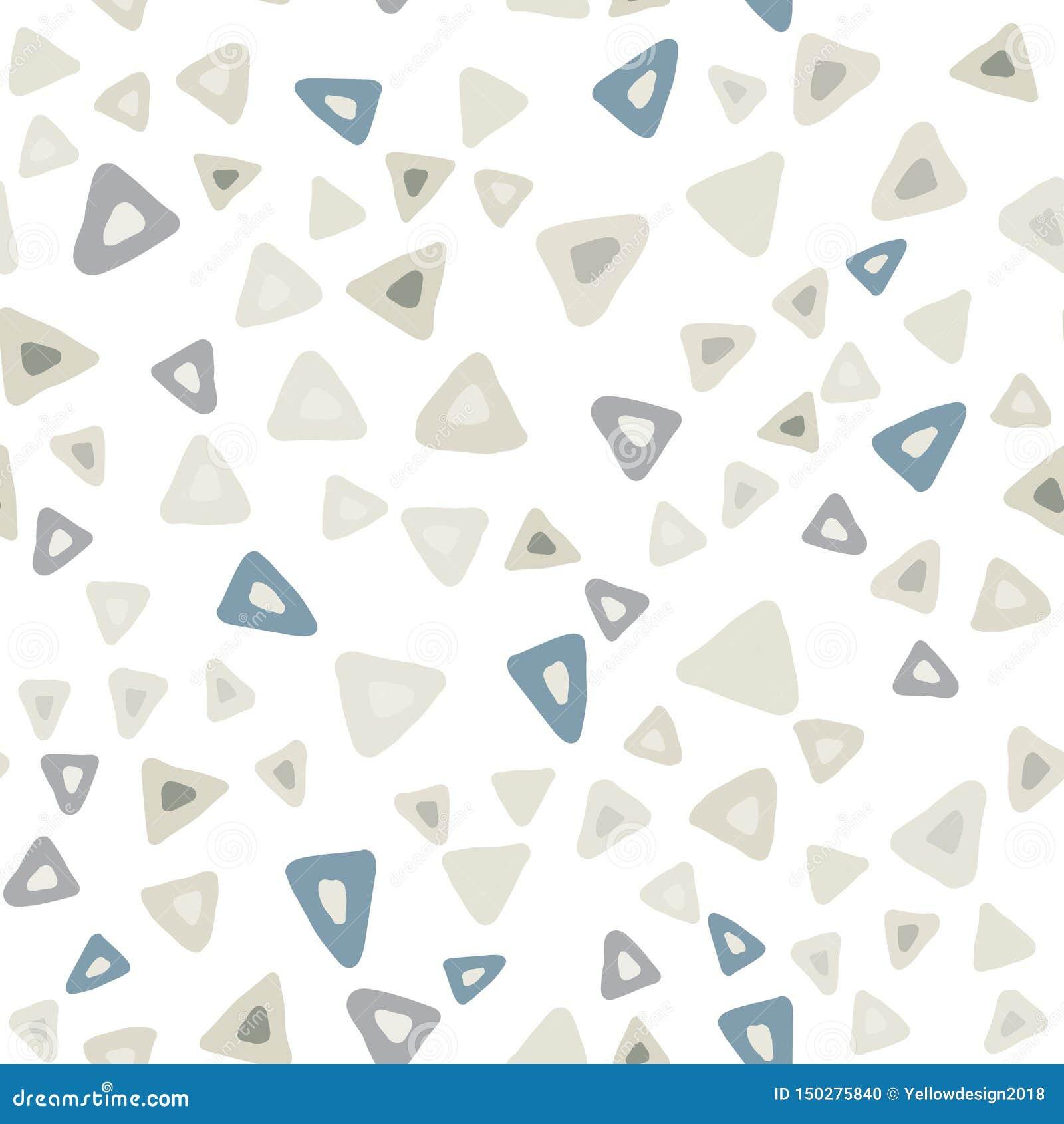 Wręcza patroszonemu prostemu trójbokowi bezszwowego wzór na białym tle