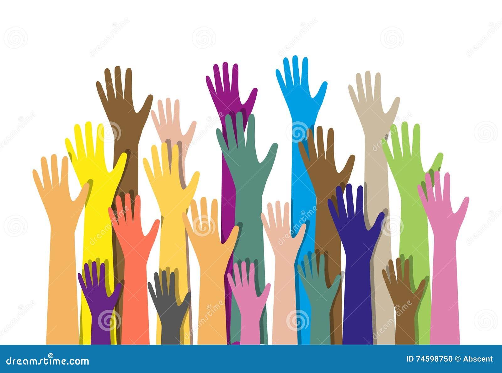 Wręcza różnych kolory kulturalna etniczna różnorodność