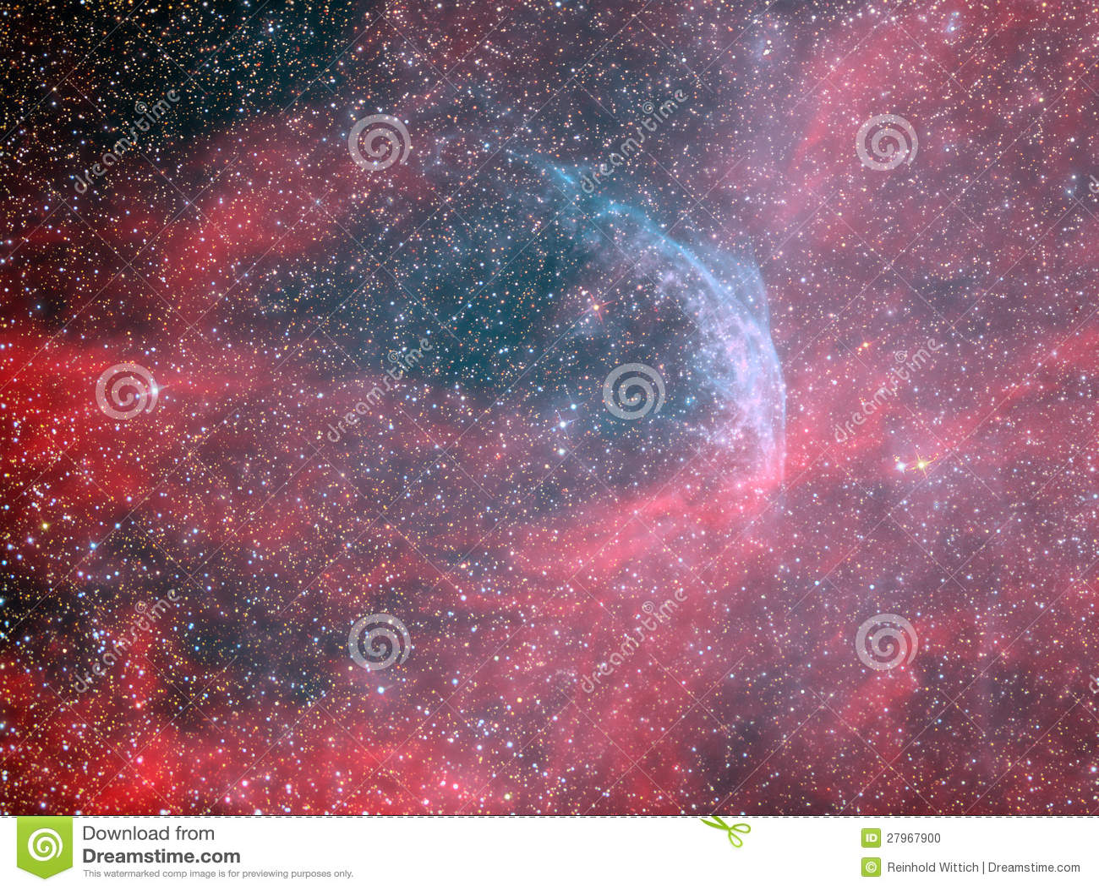 WR134 νεφέλωμα αστεριών και δαχτυλιδιών Rayet λύκων