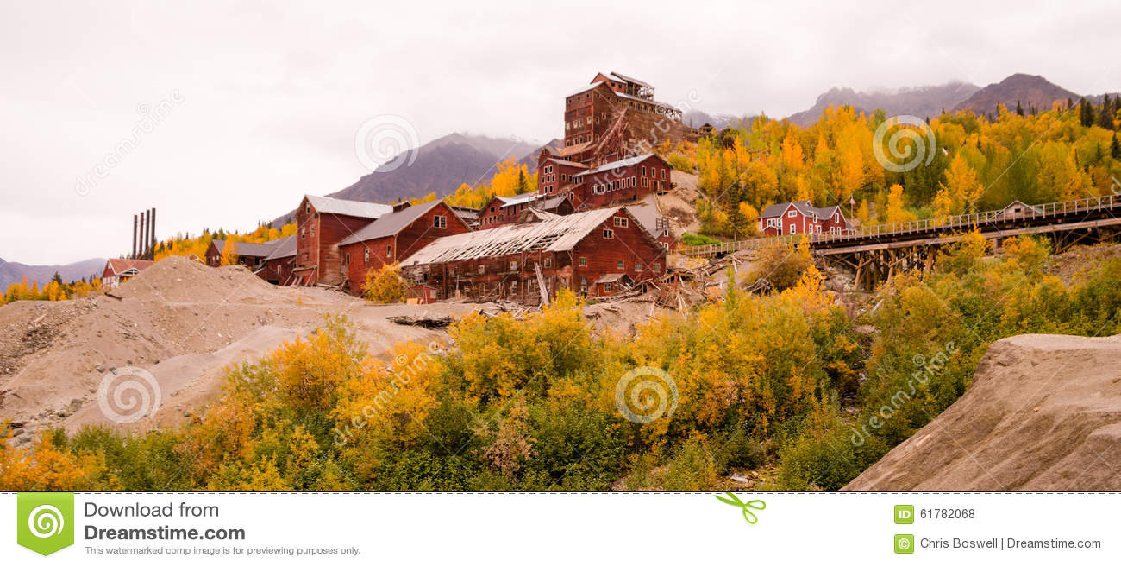 Wrangellst Elias Kennecott Mines Concentration Mill Alaska Wildernis