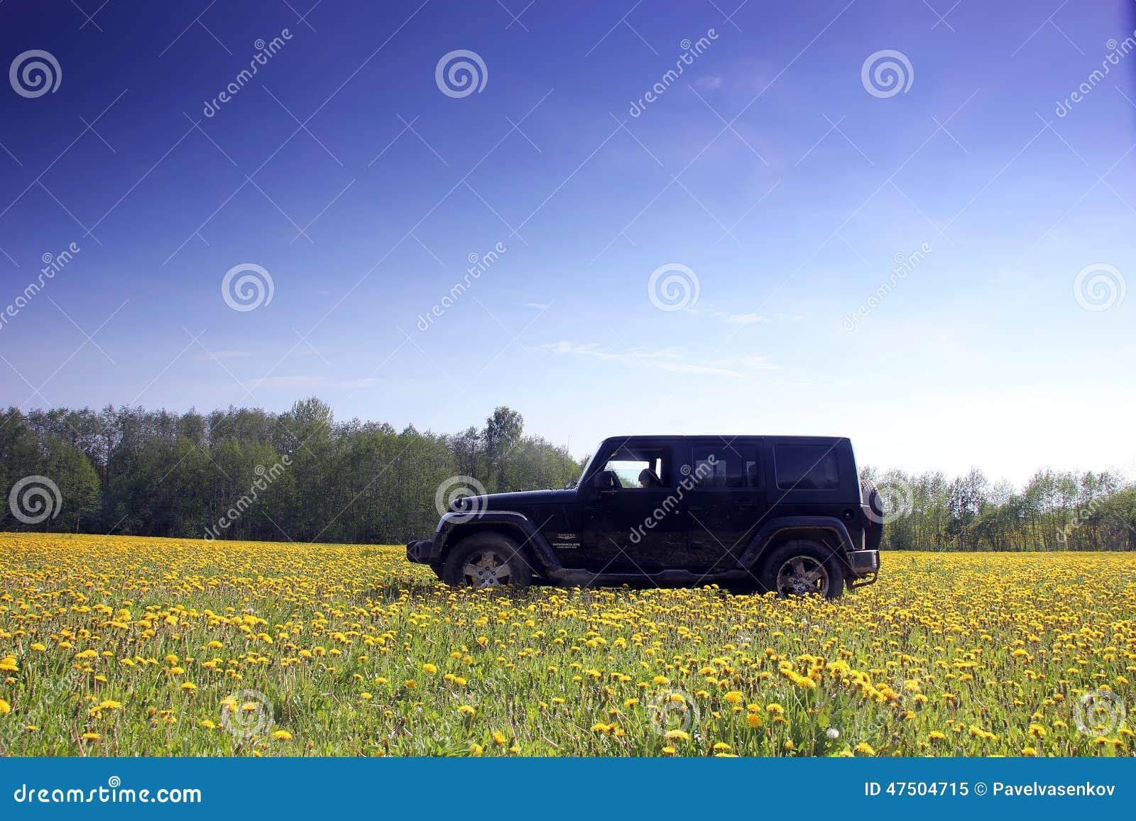 Wrangler della jeep in Russia