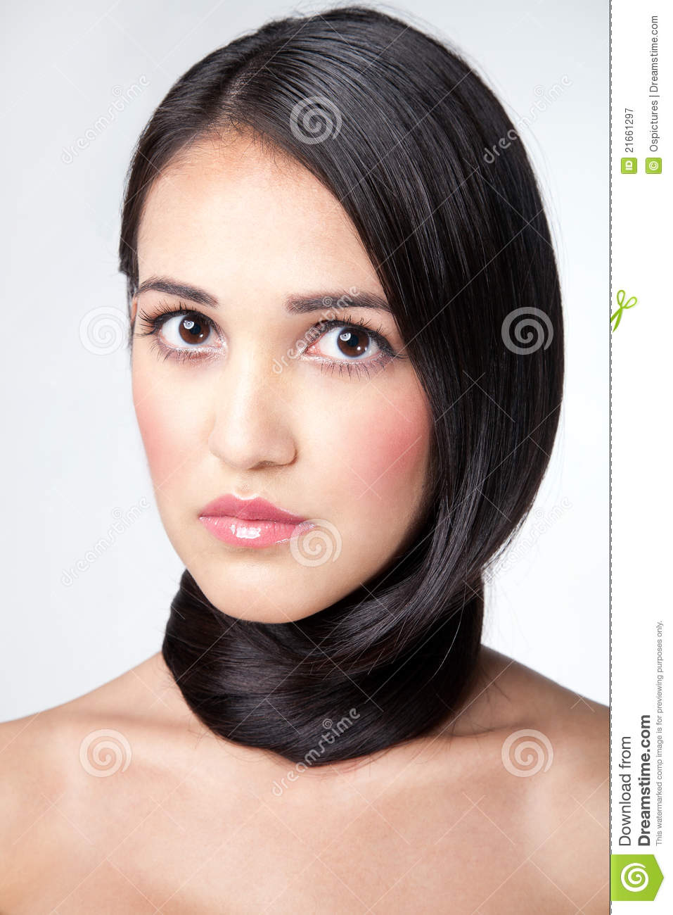Wrapped Around A Neck Hair Stock Image Image Of Lady 21661297