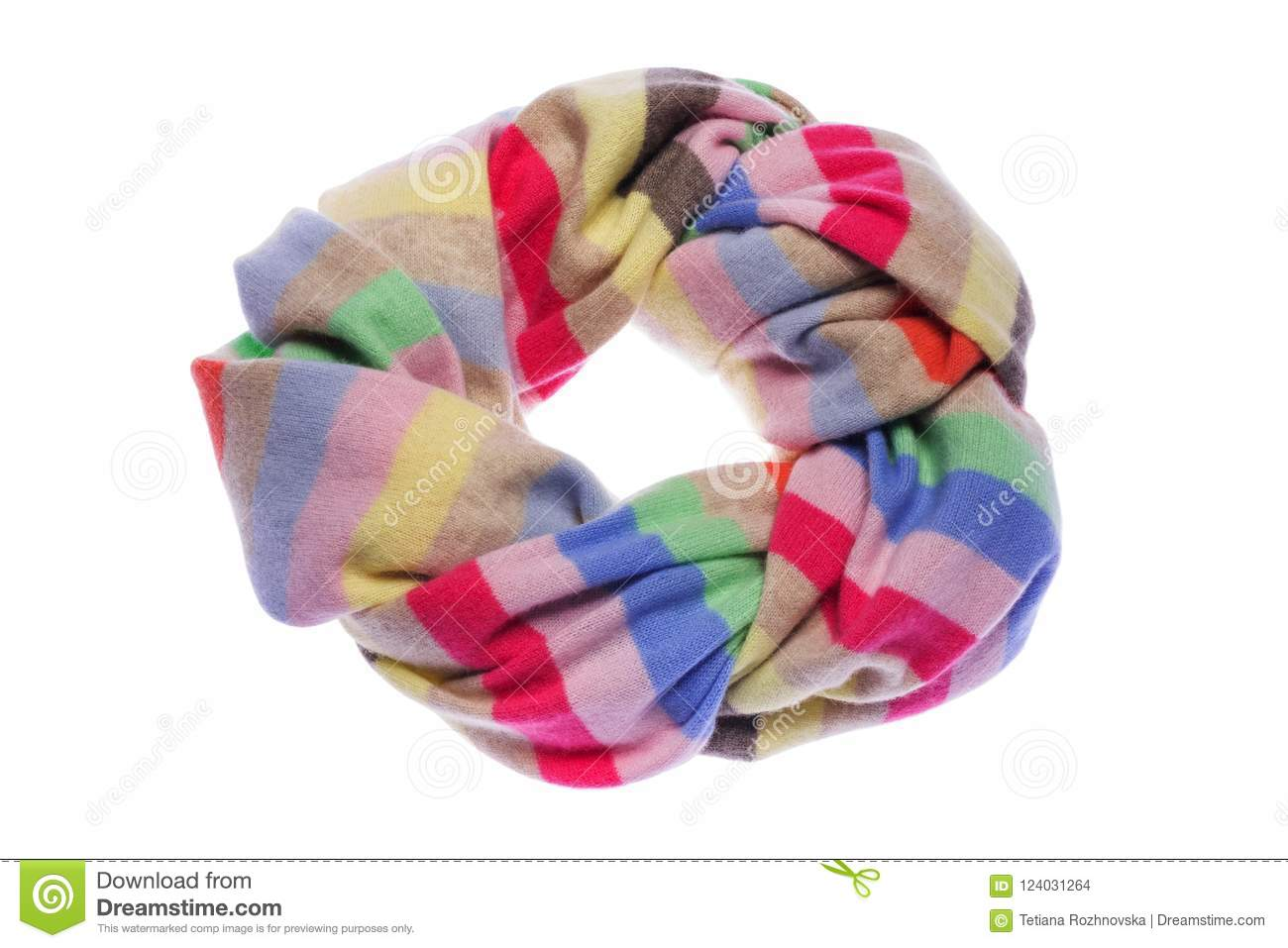 Wrapped in a circle a warm winter scarf.