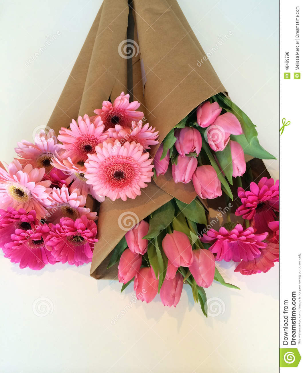 Wrapped Flower Bouquets Stock Photo Image Of Colorful 48499798