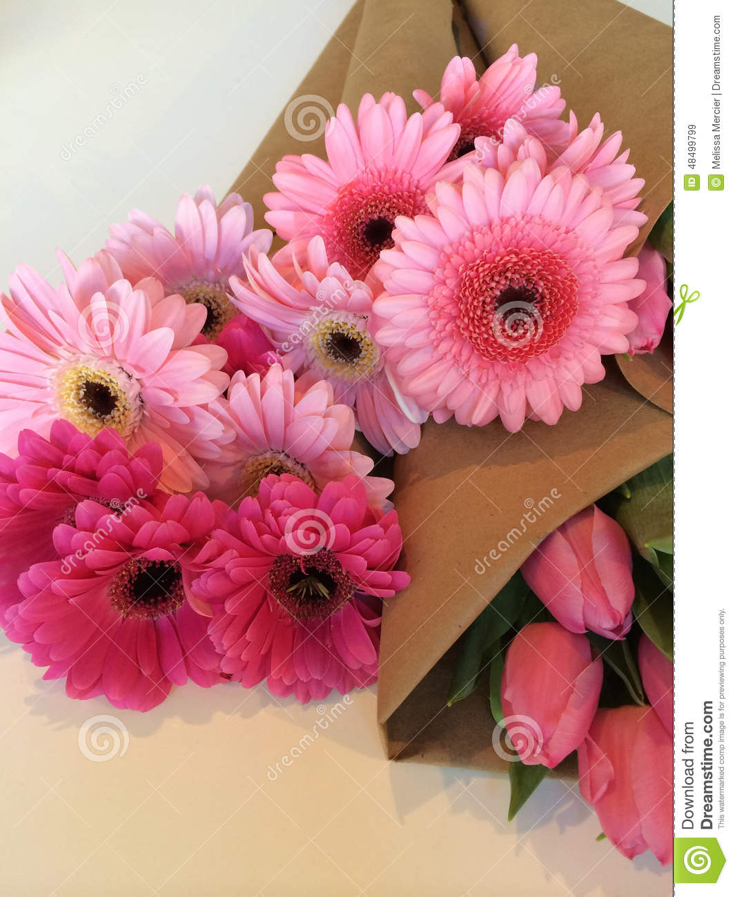 Wrapped Flower Bouquets Stock Image Image Of Flowering 48499799