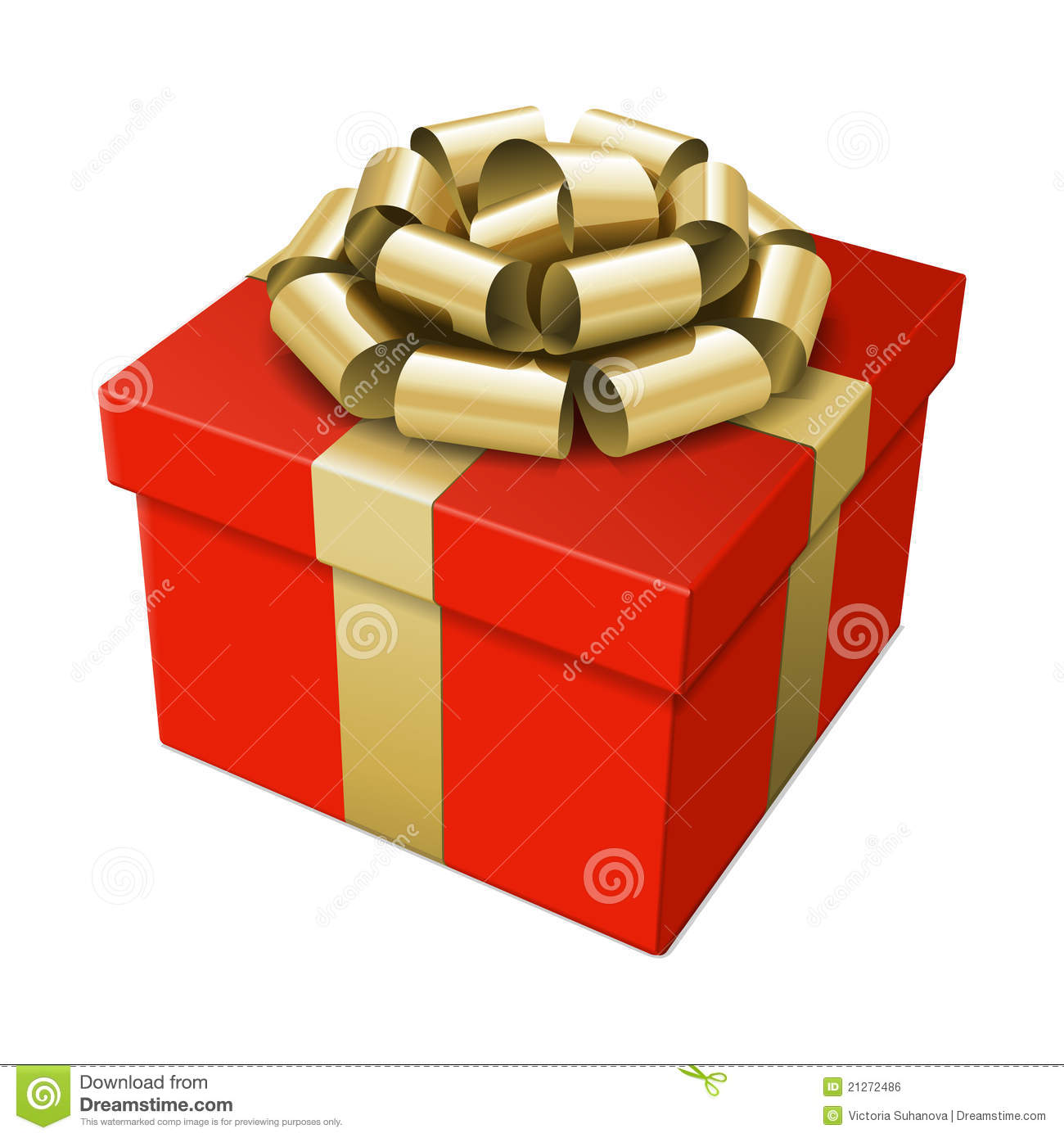 Wrapped gift box with bow royalty free stock image
