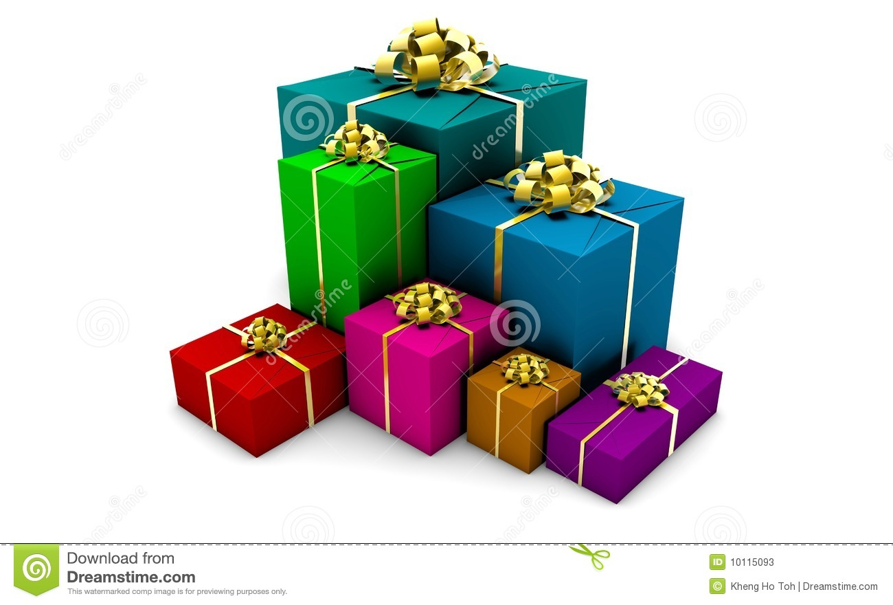 Wrapped Gift Boxes Stock Photos Image 10115093