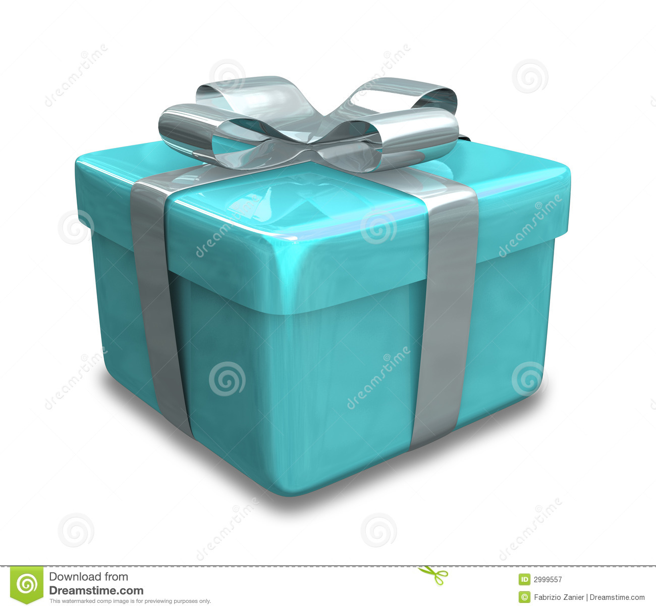 Wrapped Light Blue Gift 3D Royalty Free Stock Photography ...