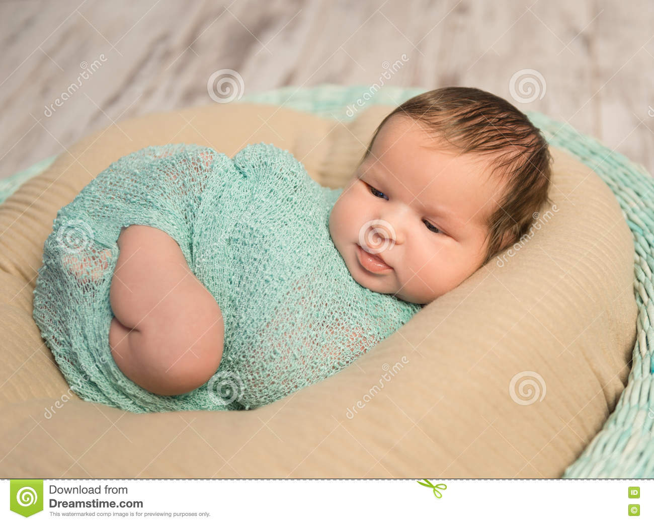 8849814d2 Wrapped Newborn With Bare Foot Stock Image - Image of human ...
