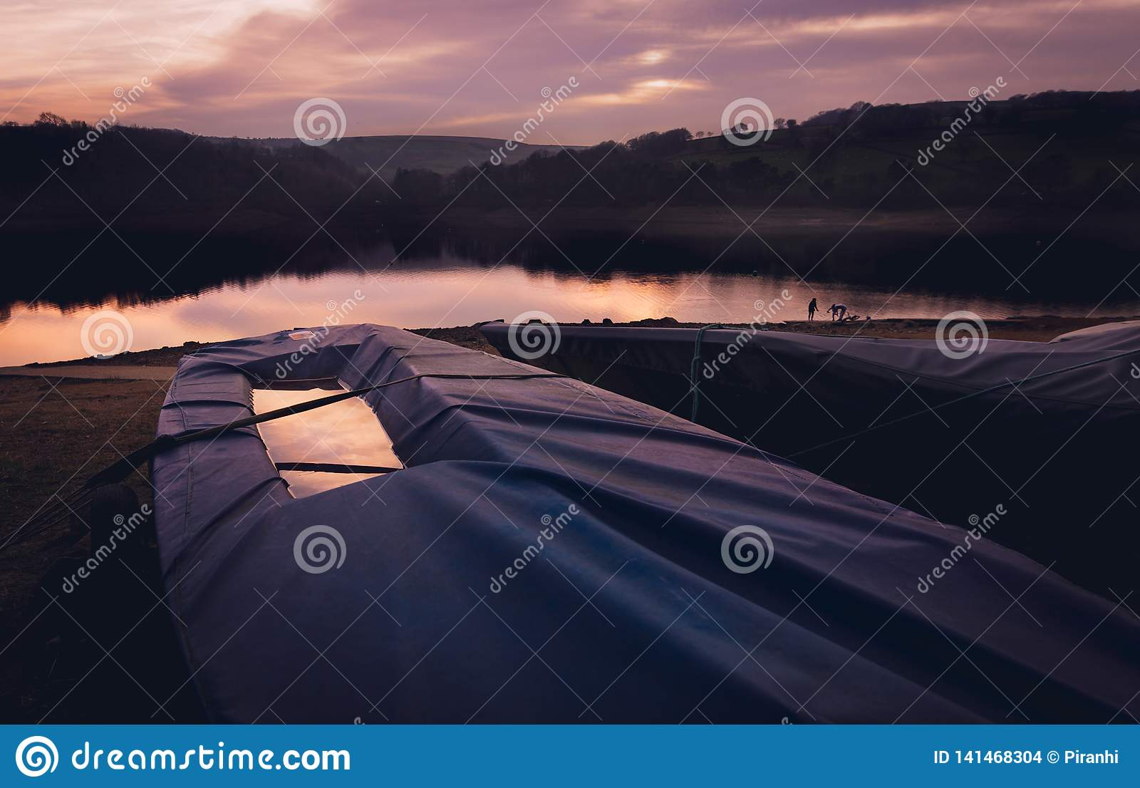 Sailing boat under cover