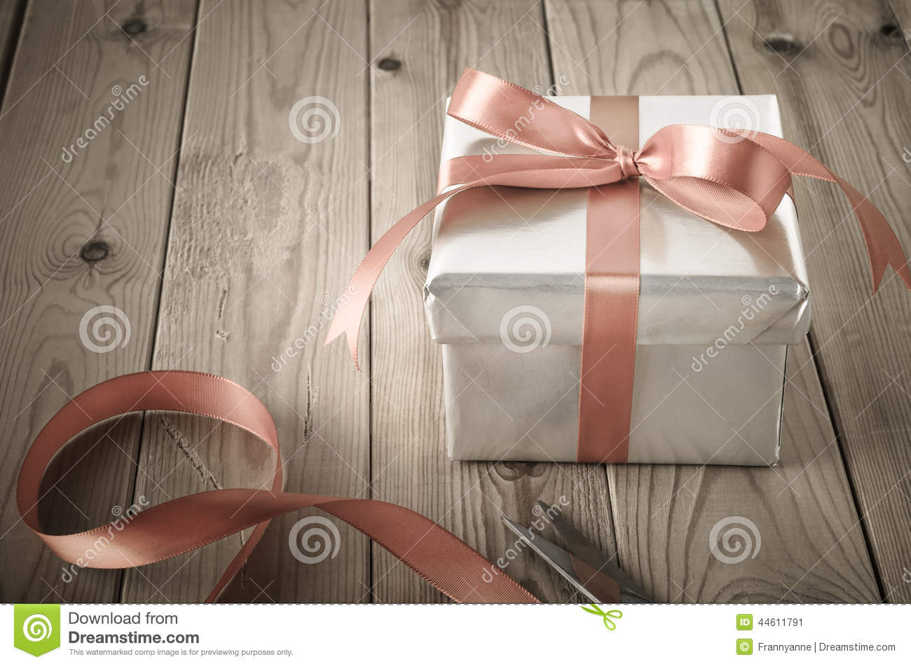 Download Wrapping Of Gift Box With Vintage Effect Stock Image - Image of gift, orientation: 44611791