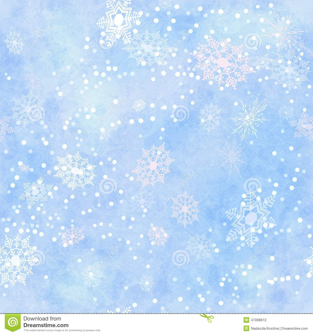 Wrapping Vintage Paper Snowflake Seamless Pattern Stock