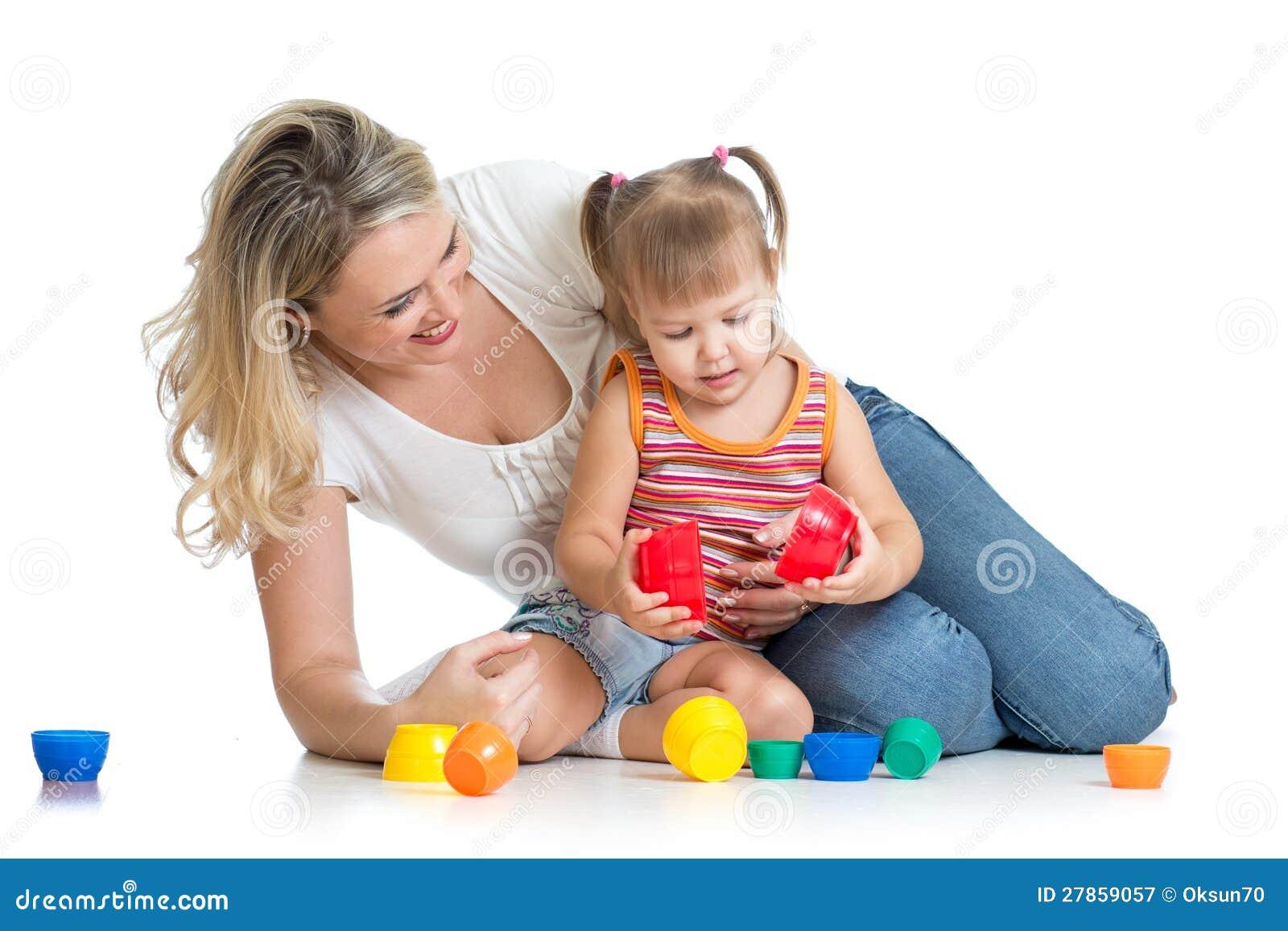 Wraz z zabawkami dzieciak matki dziewczyny sztuka i