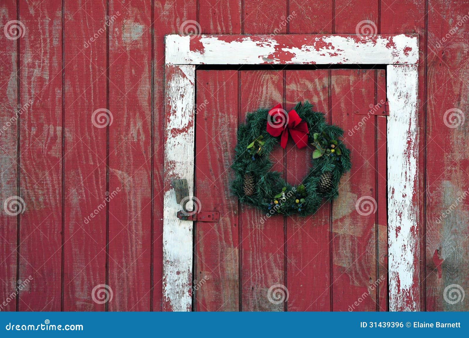 Wreath On Barn Royalty Free Stock Image Image 31439396