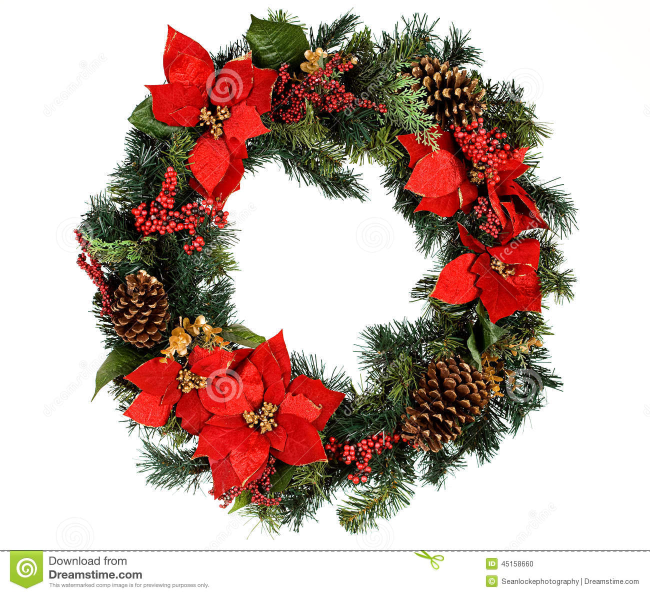 Wreath Christmas Wreath With No Snow Stock Photo Image Of