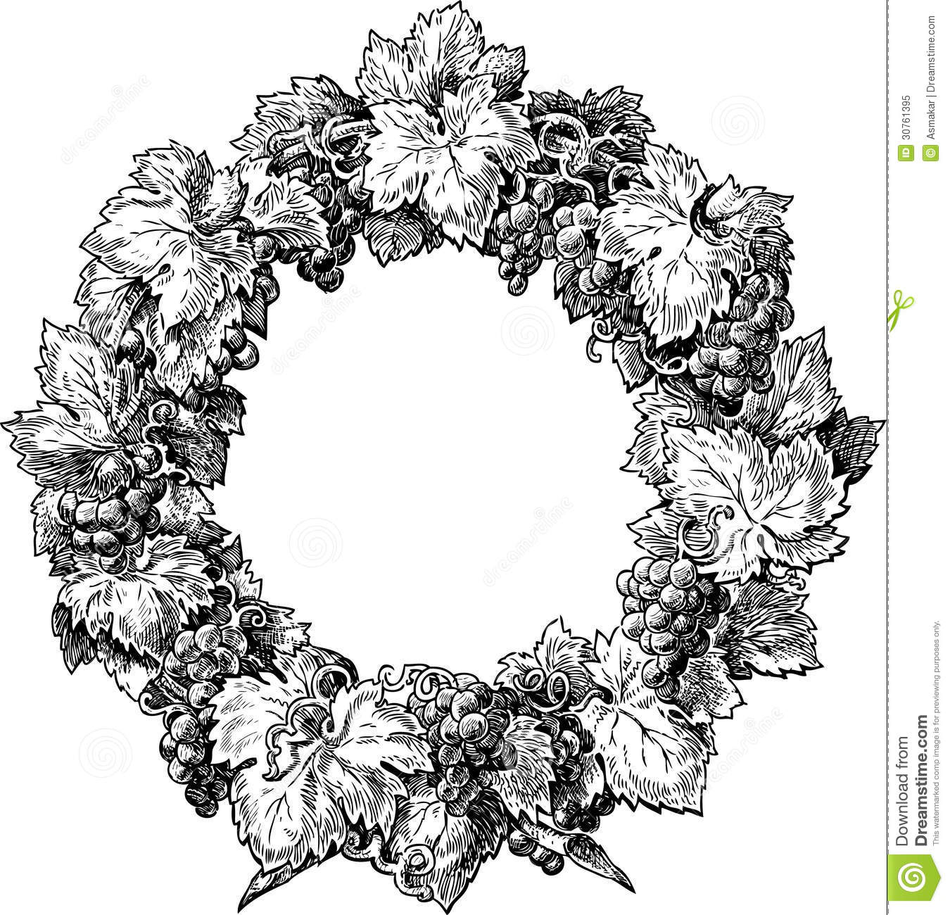Wreath From A Grapevine Royalty Free Stock Photo - Image: 30761395