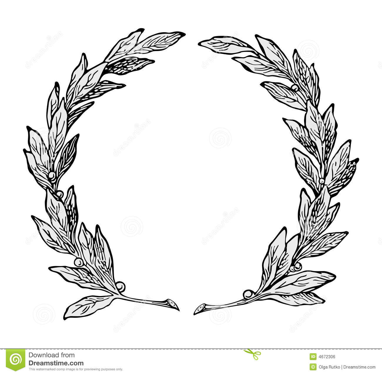 Wreath Ornament Vector Royalty Free Stock Image Image