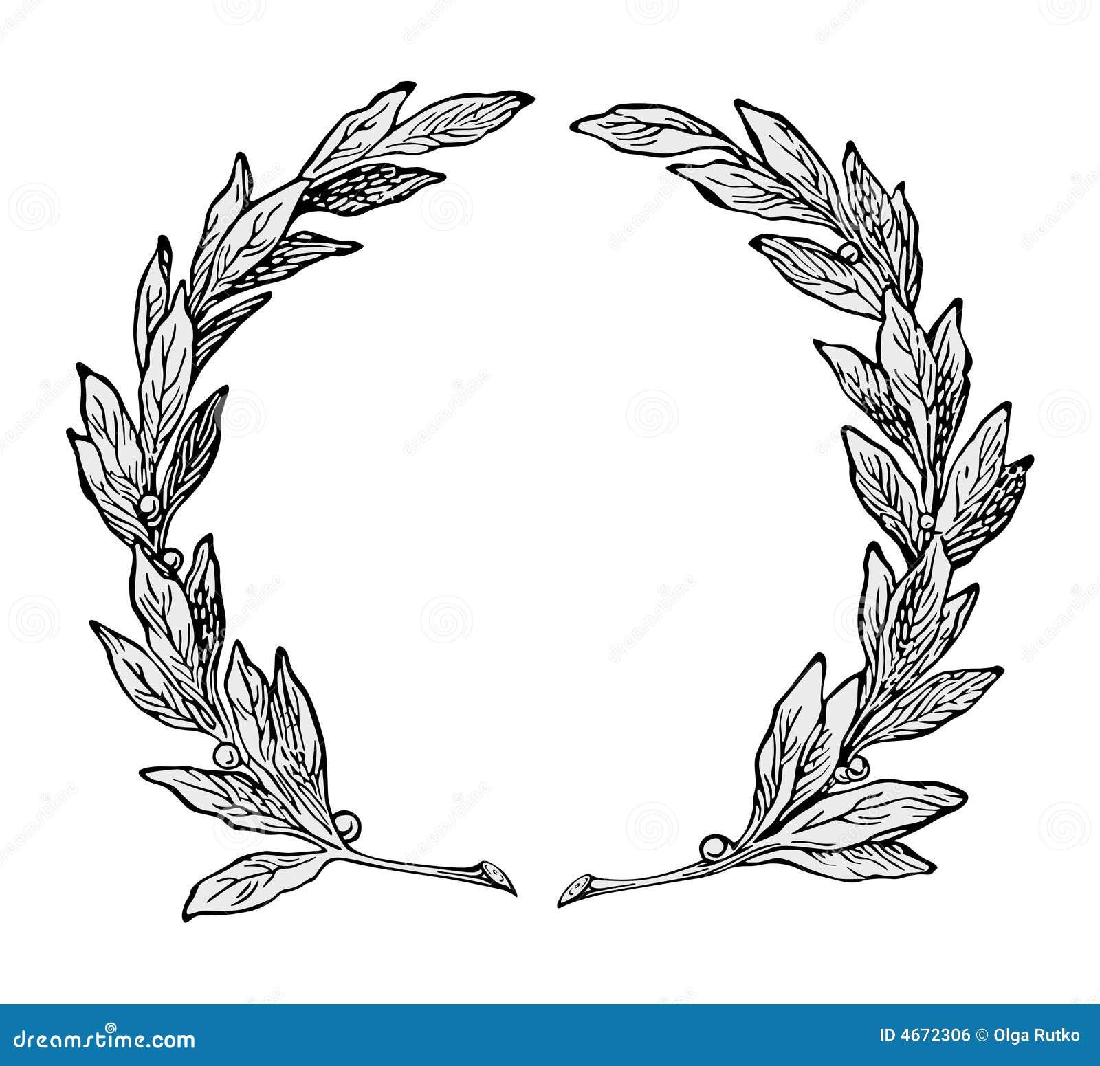 Wreath ornament vector