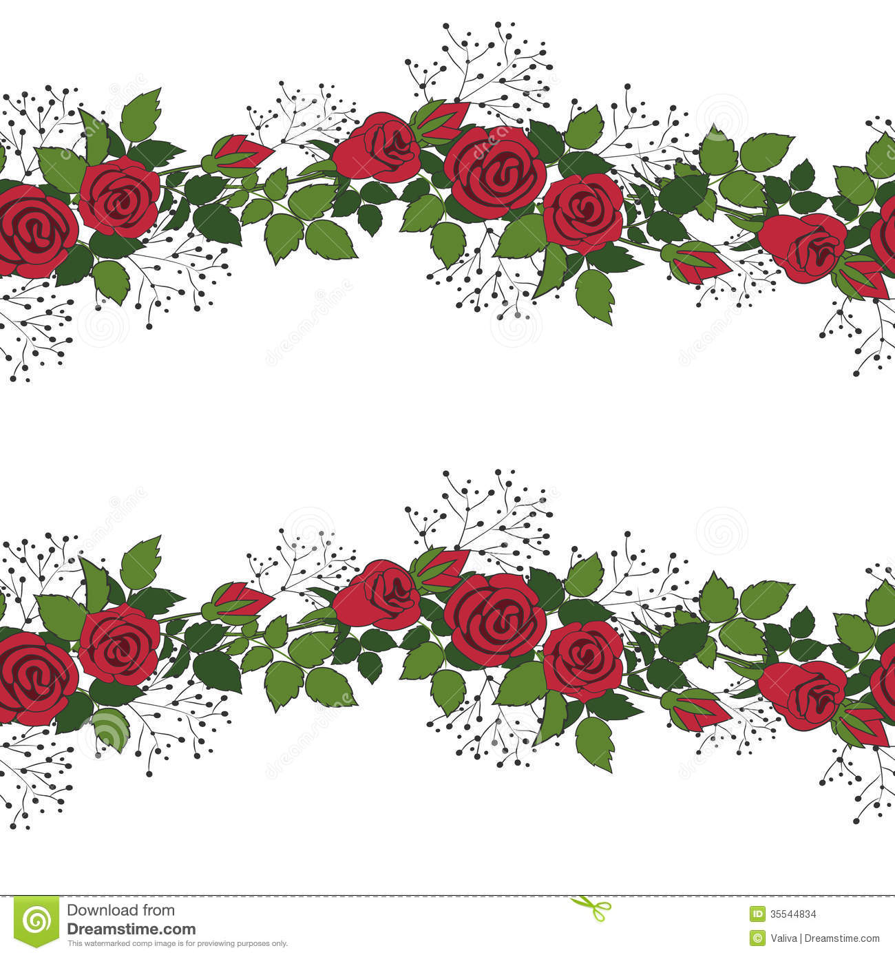 Wreath Of Red Roses Stock Images - Image: 35544834