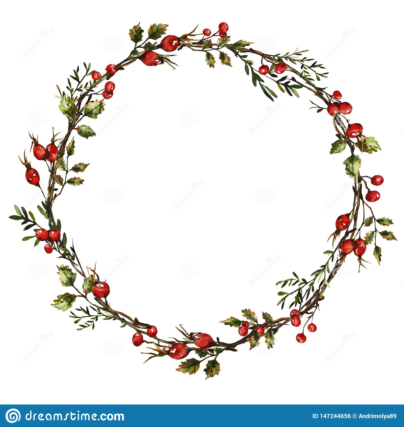 Wreath with rose hips
