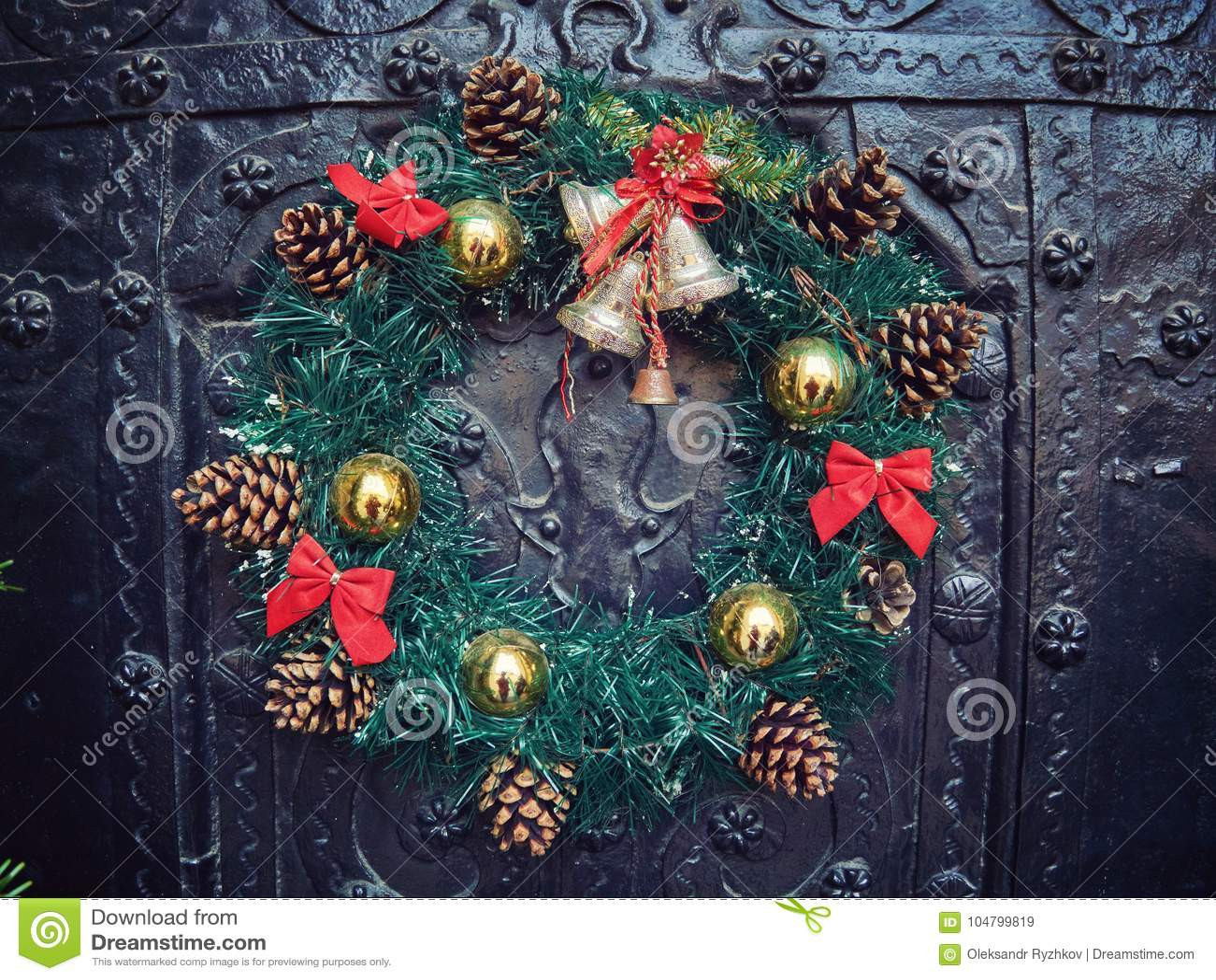 Wreath Salad For Christmas Stock Image Image Of Holiday 104799819
