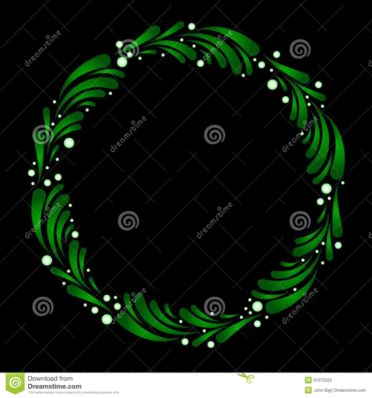 Wreath of stylized mistletoe stock vector illustration of wreath of stylized mistletoe buycottarizona Image collections