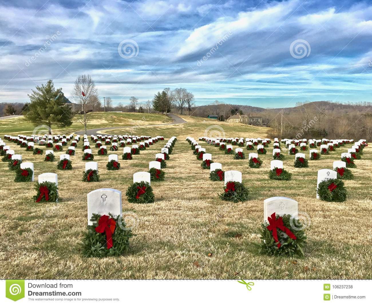 Wreaths Across America Honoring Our Soldiers And Vets Stock Photo Image Of Solemnity Honoring 106237238