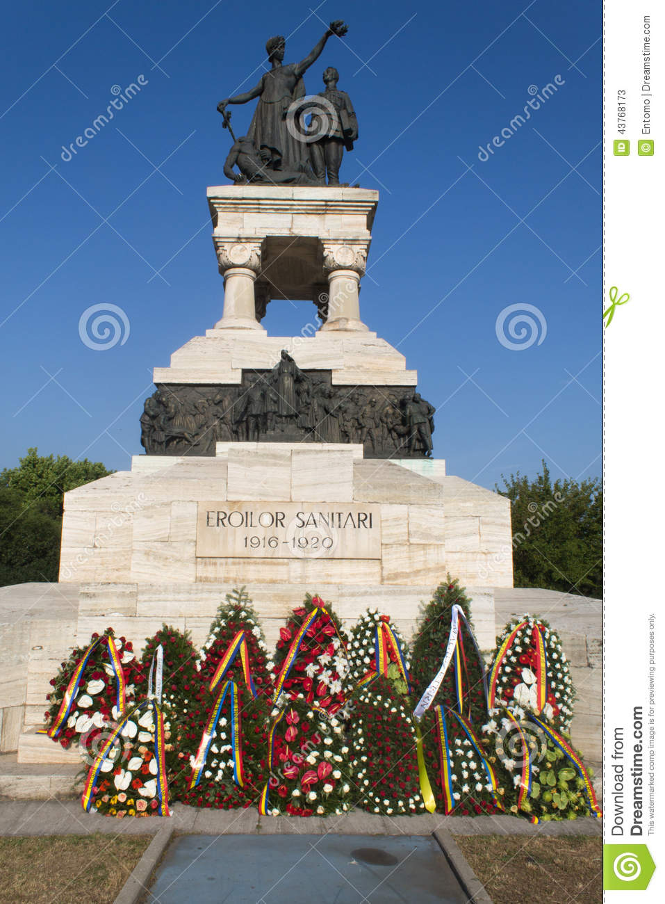 Wreaths at the Sanitary Heroes Monument