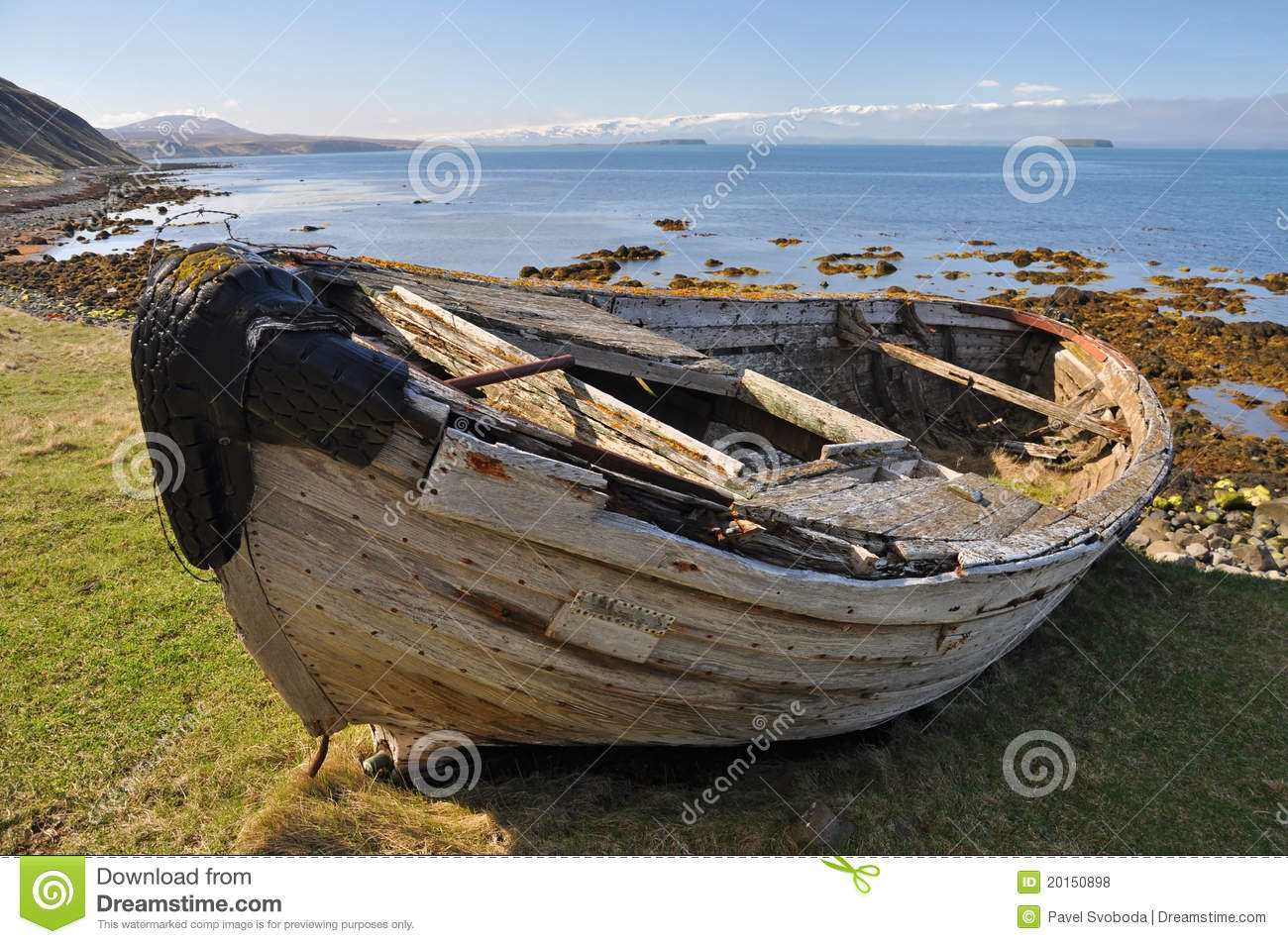 Wreck Of Fishing Boat, Iceland Royalty Free Stock Photos ...