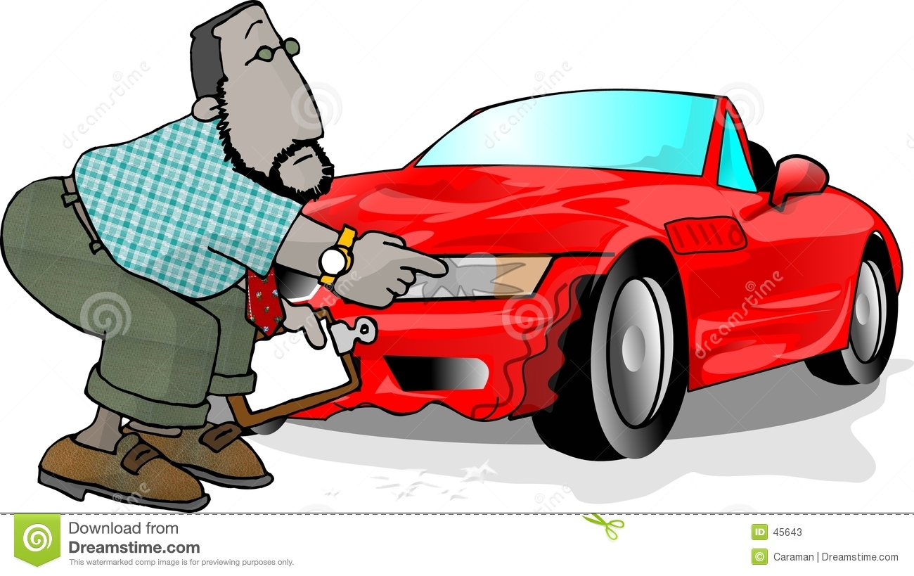 Wrecked car stock illustration. Illustration of work, insurance - 45643